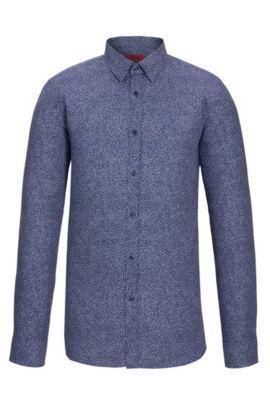 'Elisha' | Extra-Slim Fit, Cotton Easy Iron Button Down Shirt, Dark Blue