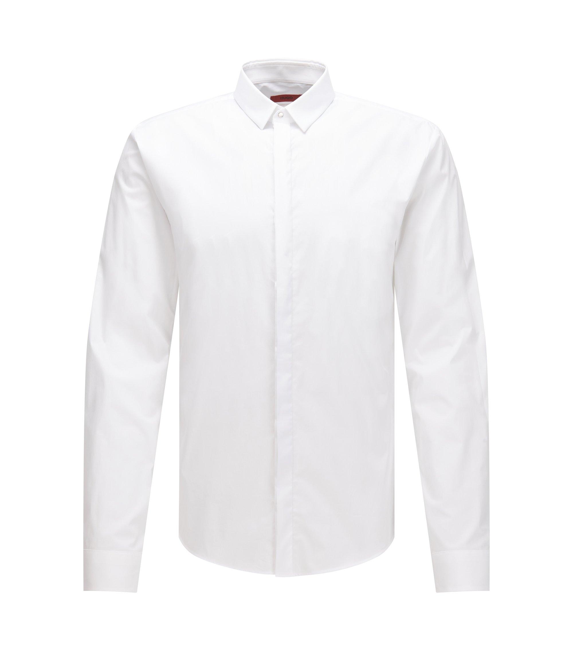 Stretch Cotton Poplin Shirt, Extra Slim Fit | Ero, Open White
