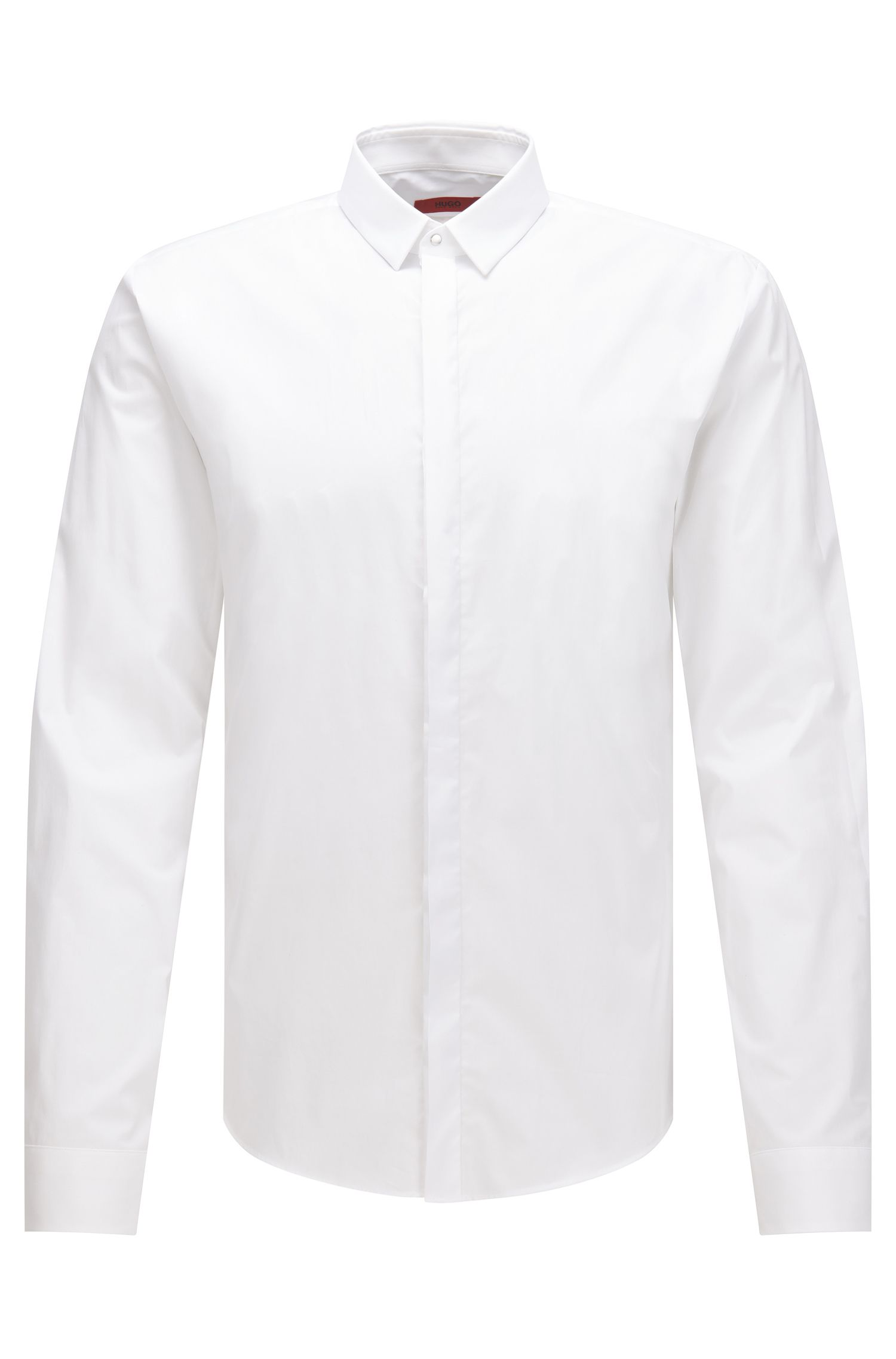 Stretch Cotton Poplin Shirt, Extra Slim Fit | Ero