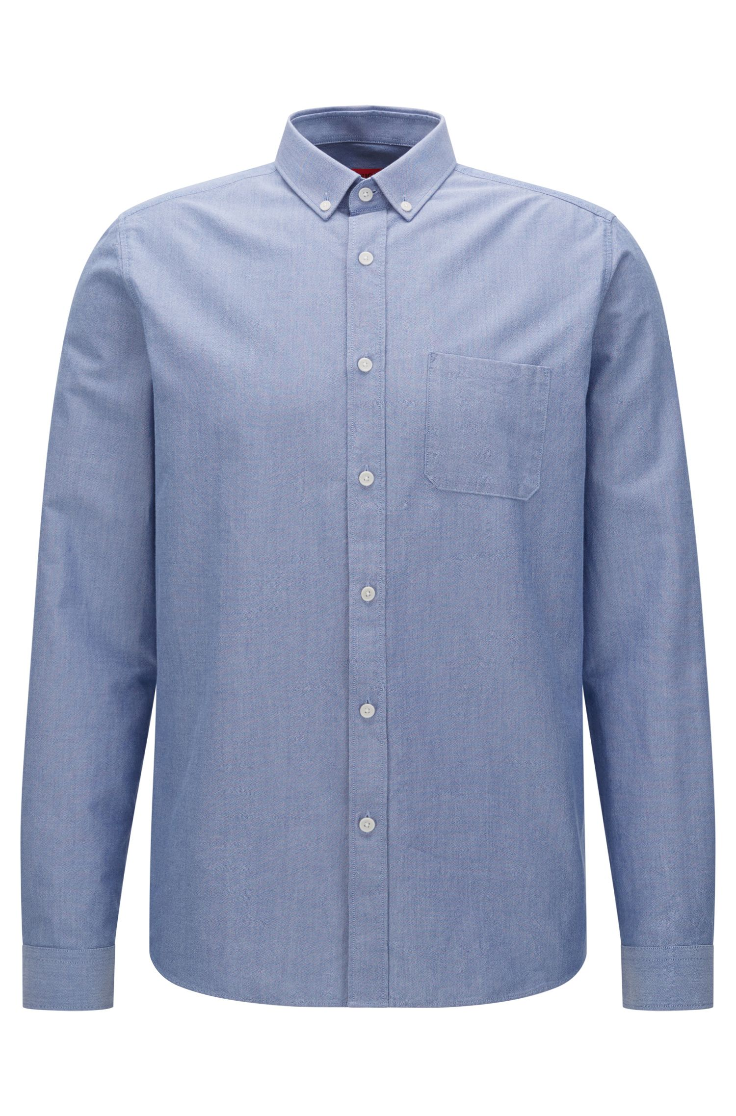 Cotton Button Down Shirt, Relaxed Fit | Emingway