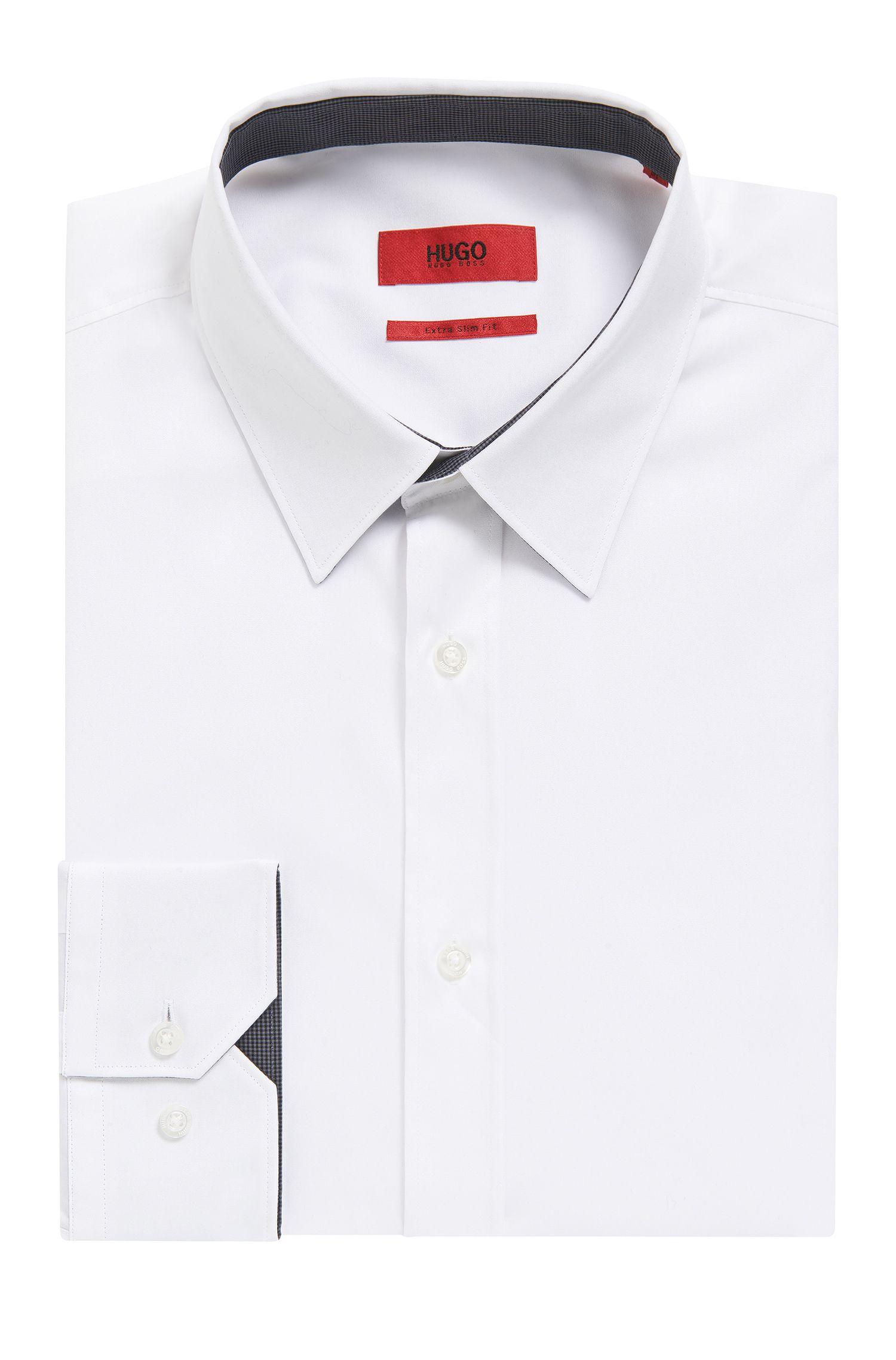 Cotton Easy Iron Button Down Shirt, Extra Slim Fit | Elisha