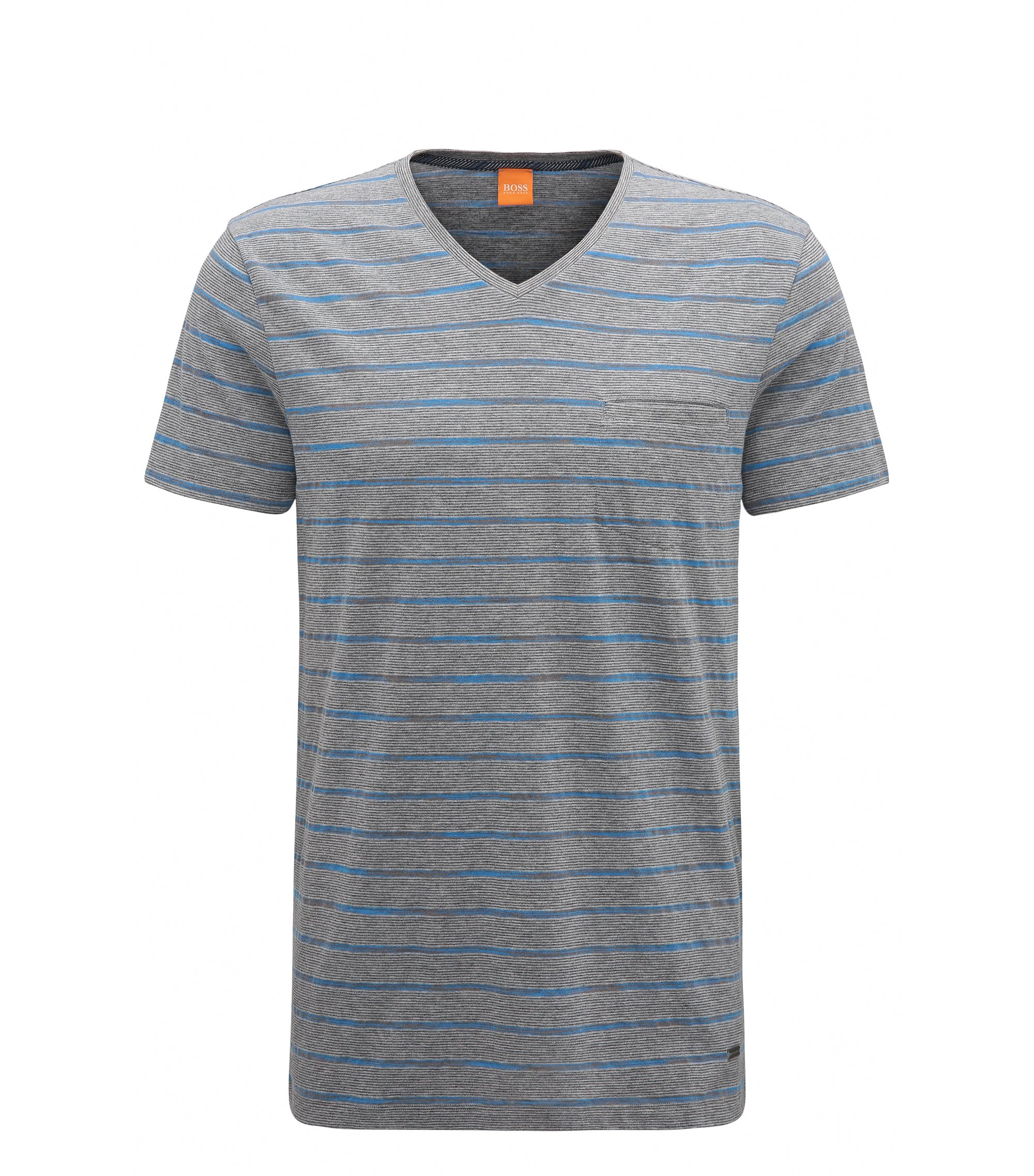 Striped Jersey T-Shirt | Teaser, Light Grey