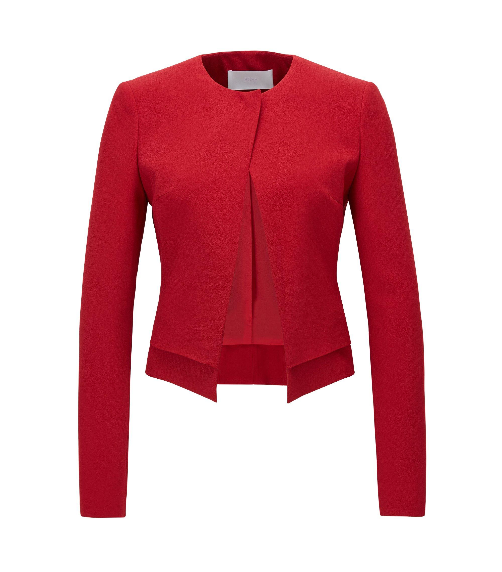 Viscose Blend Jacket | Jasela, Red