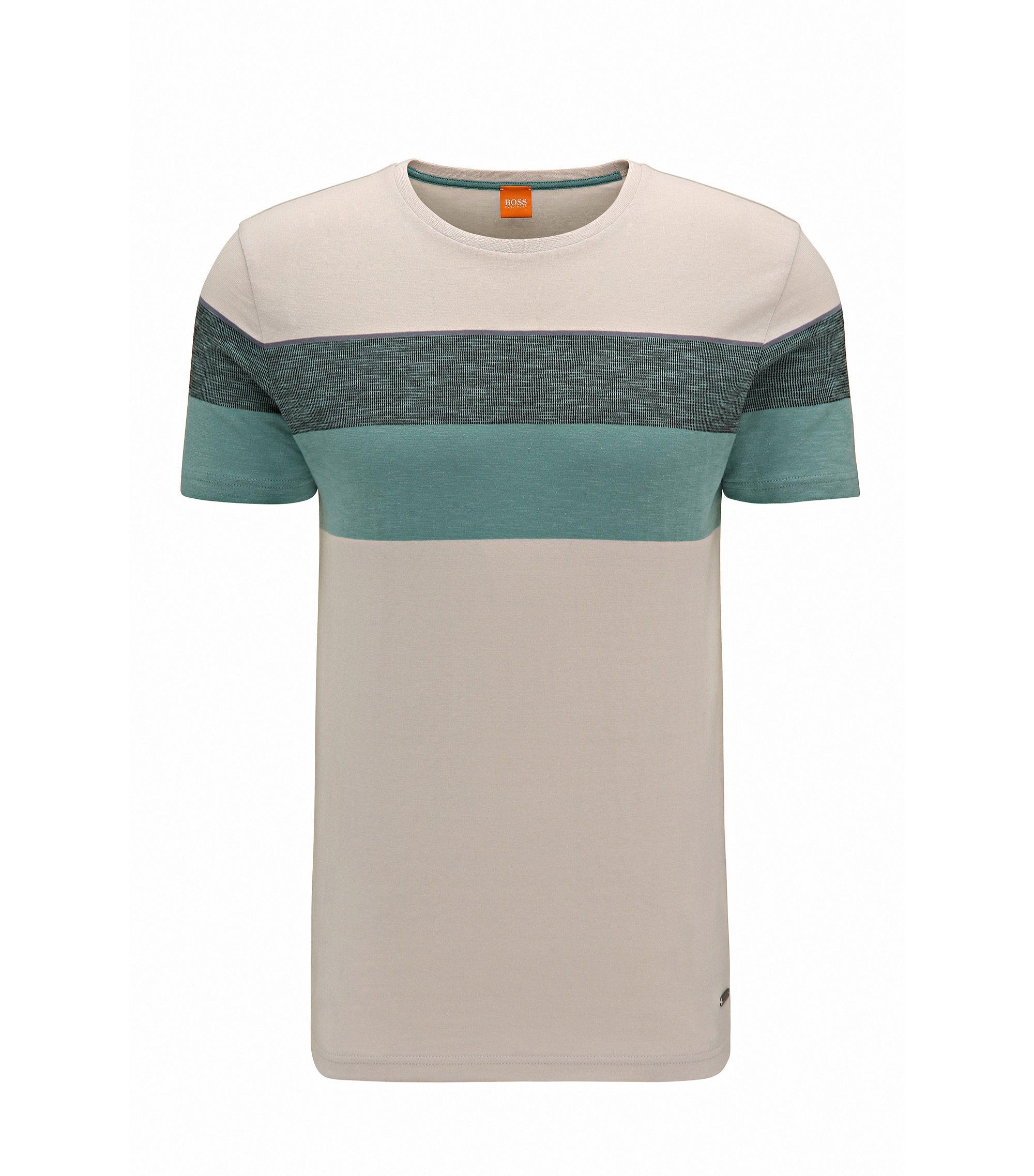 Colorblock Cotton T-Shirt | Twist, Open White