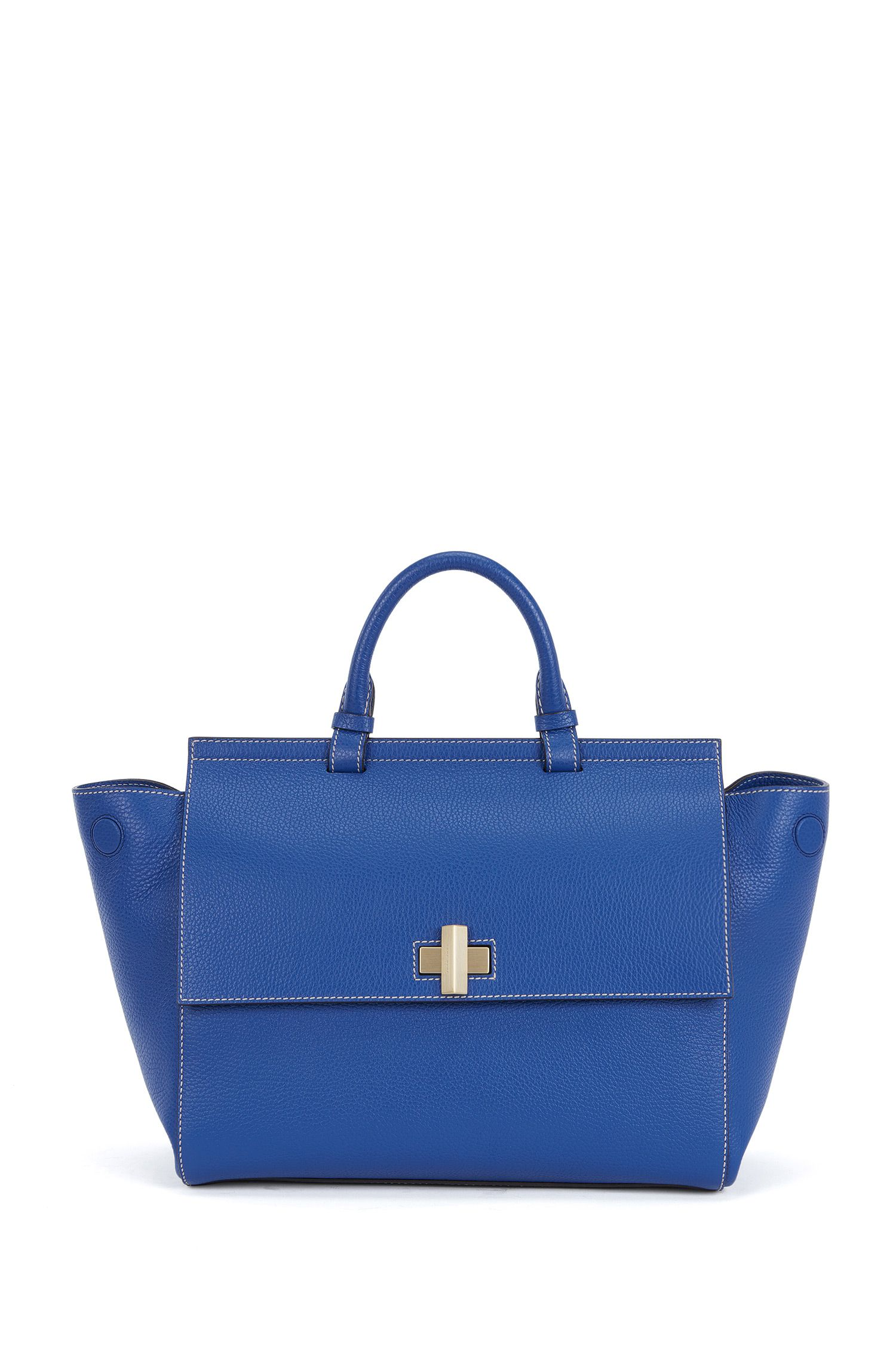 'BOSS Bespoke Soft M'   Leather Grained Satchel Handbag