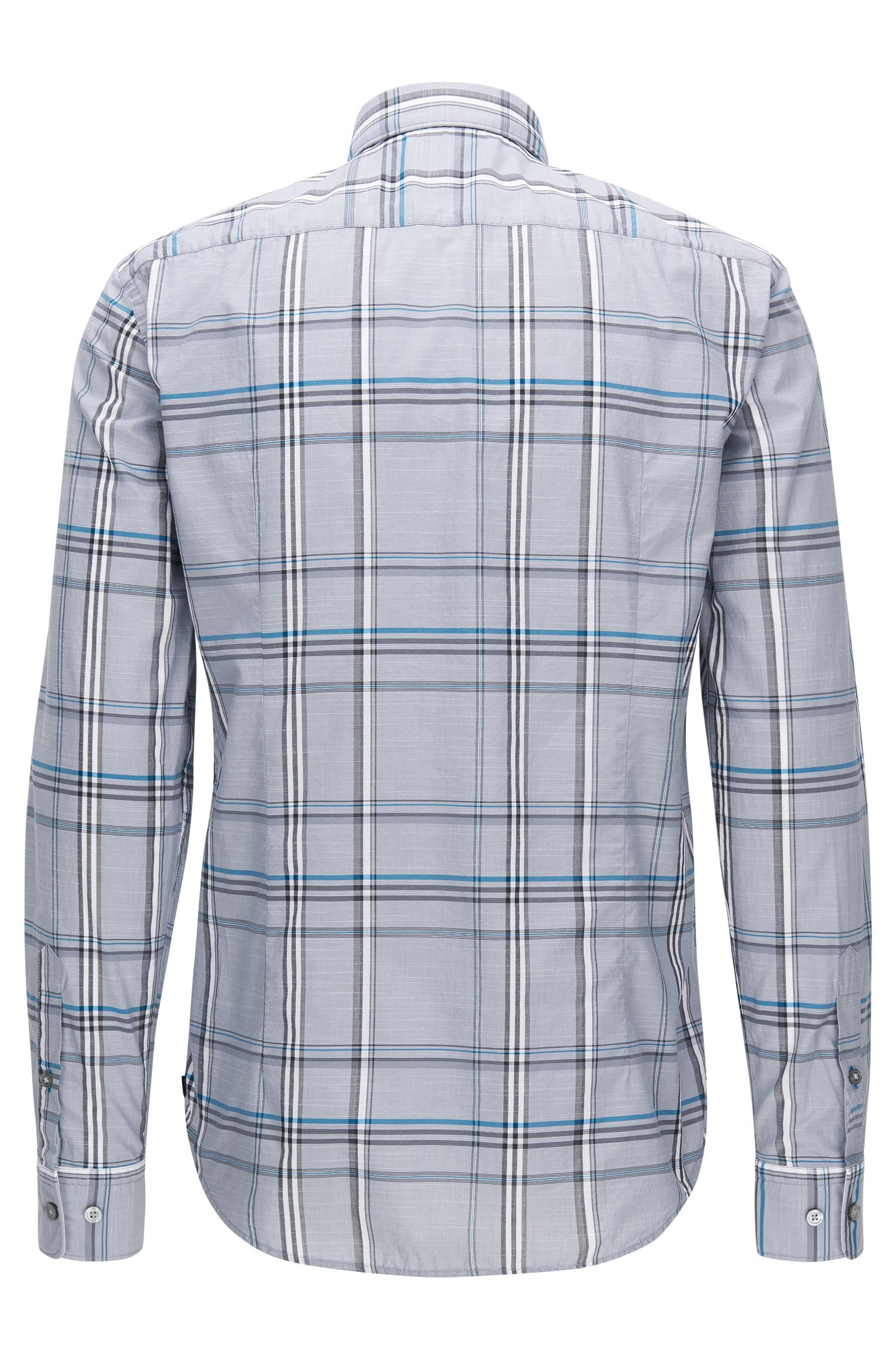 Plaid Cotton Button Down Shirt, Slim Fit | Ronni