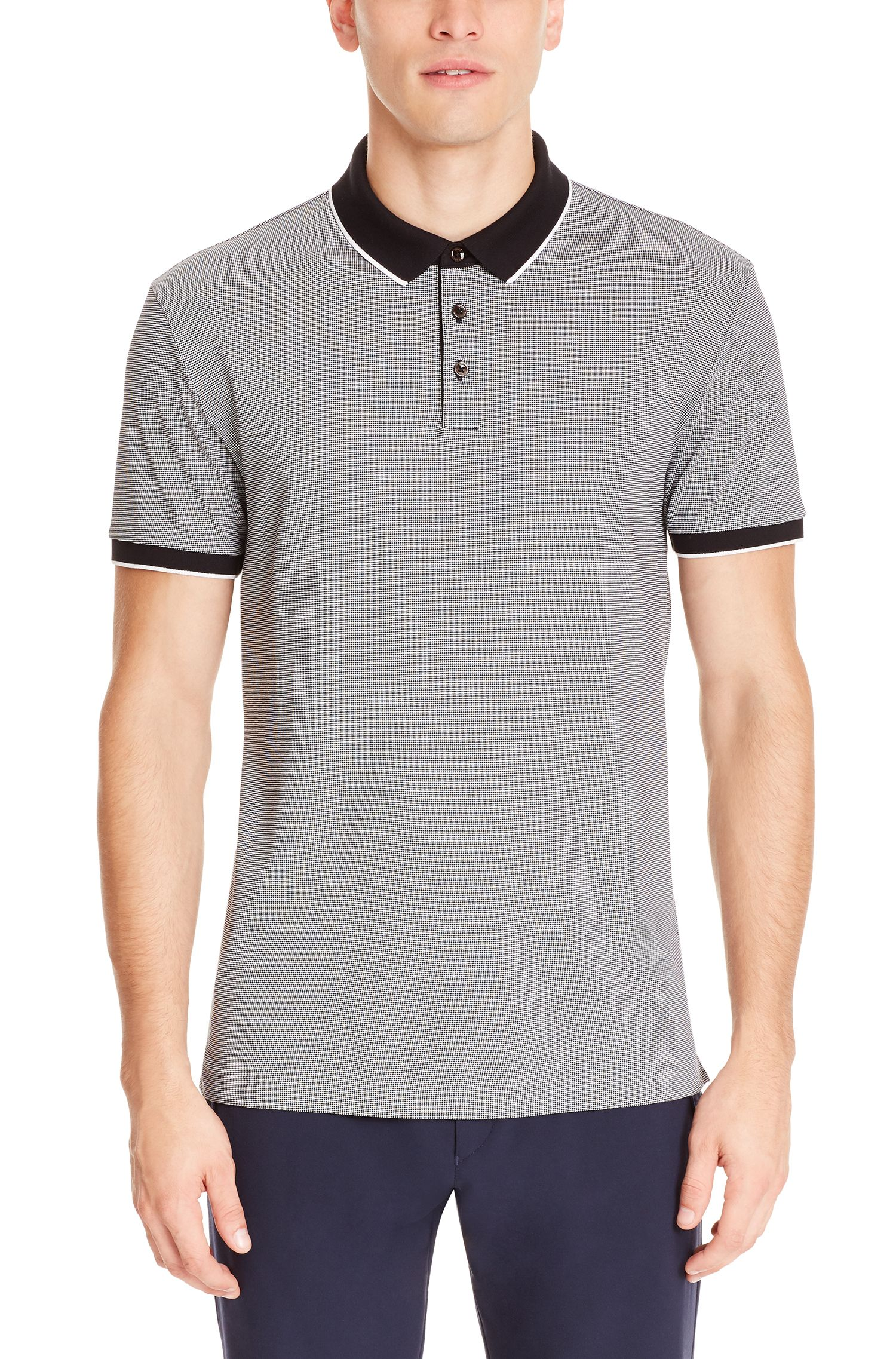 Birdseye Pima Cotton Polo Shirt, Regular Fit | Pack , Black