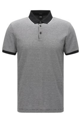 'Pack' | Regular Fit, Birdseye Pima Cotton Polo, Black