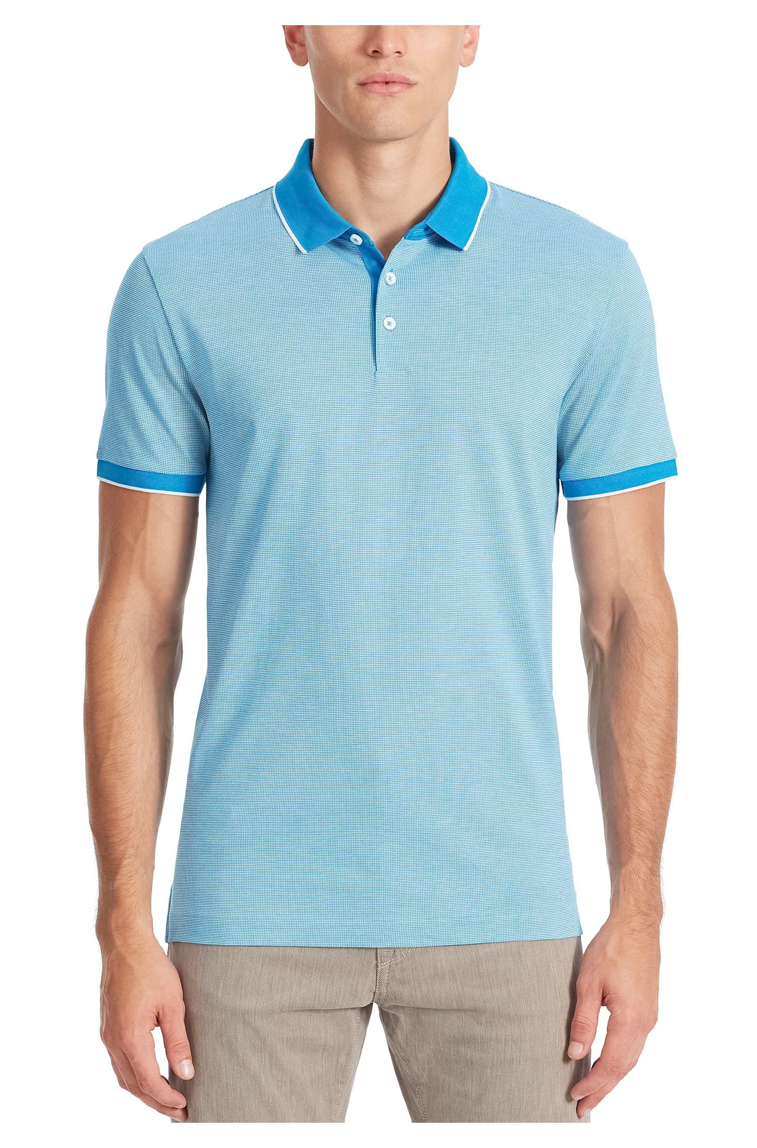 Birdseye Pima Cotton Polo Shirt, Regular Fit | Pack , Light Blue