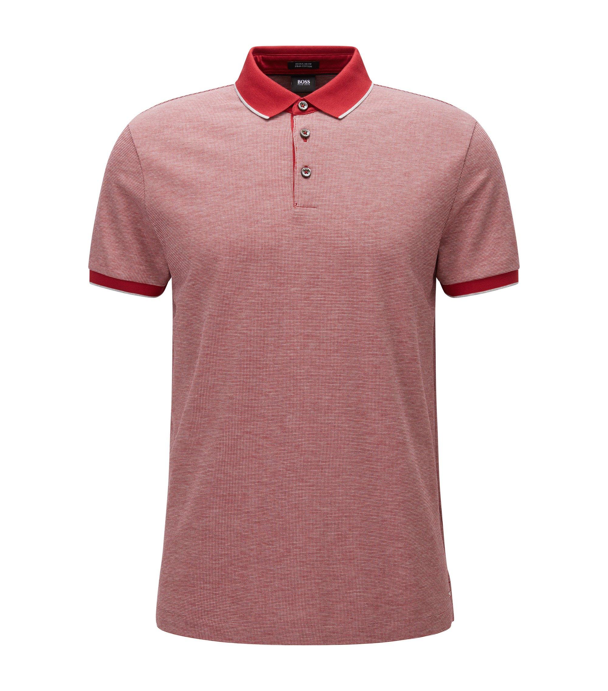Birdseye Pima Cotton Polo Shirt, Regular Fit | Pack , Red