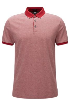 'Pack' | Regular Fit, Birdseye Pima Cotton Polo, Red