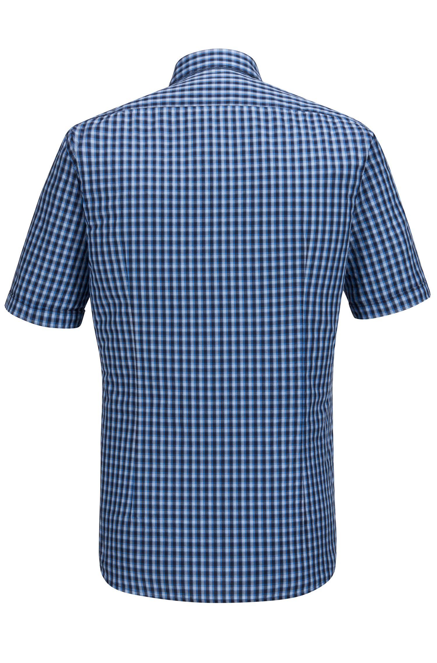 Check Cotton Button Down Shirt, Regular Fit   Luka