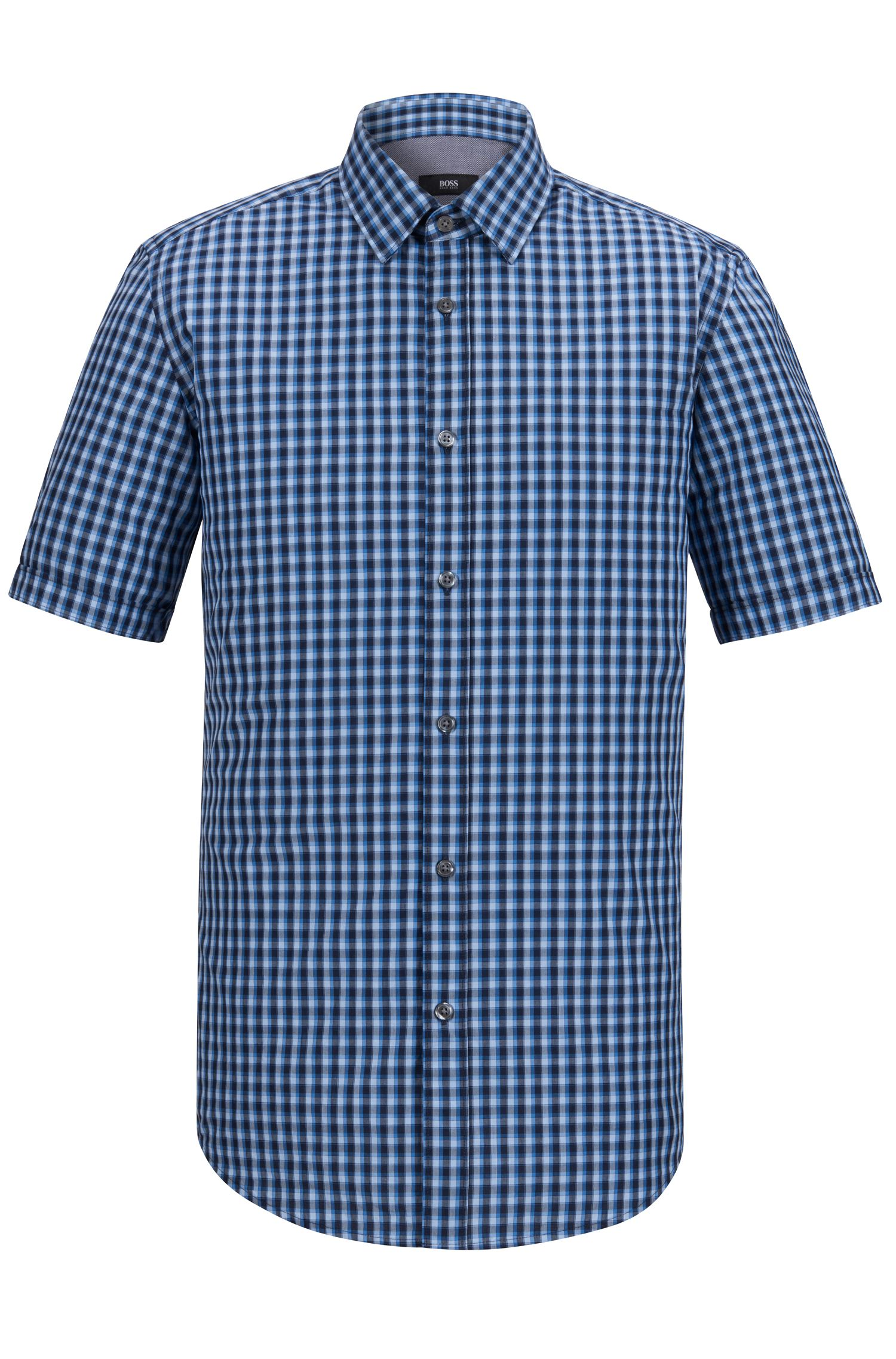 Check Cotton Button Down Shirt, Regular Fit | Luka