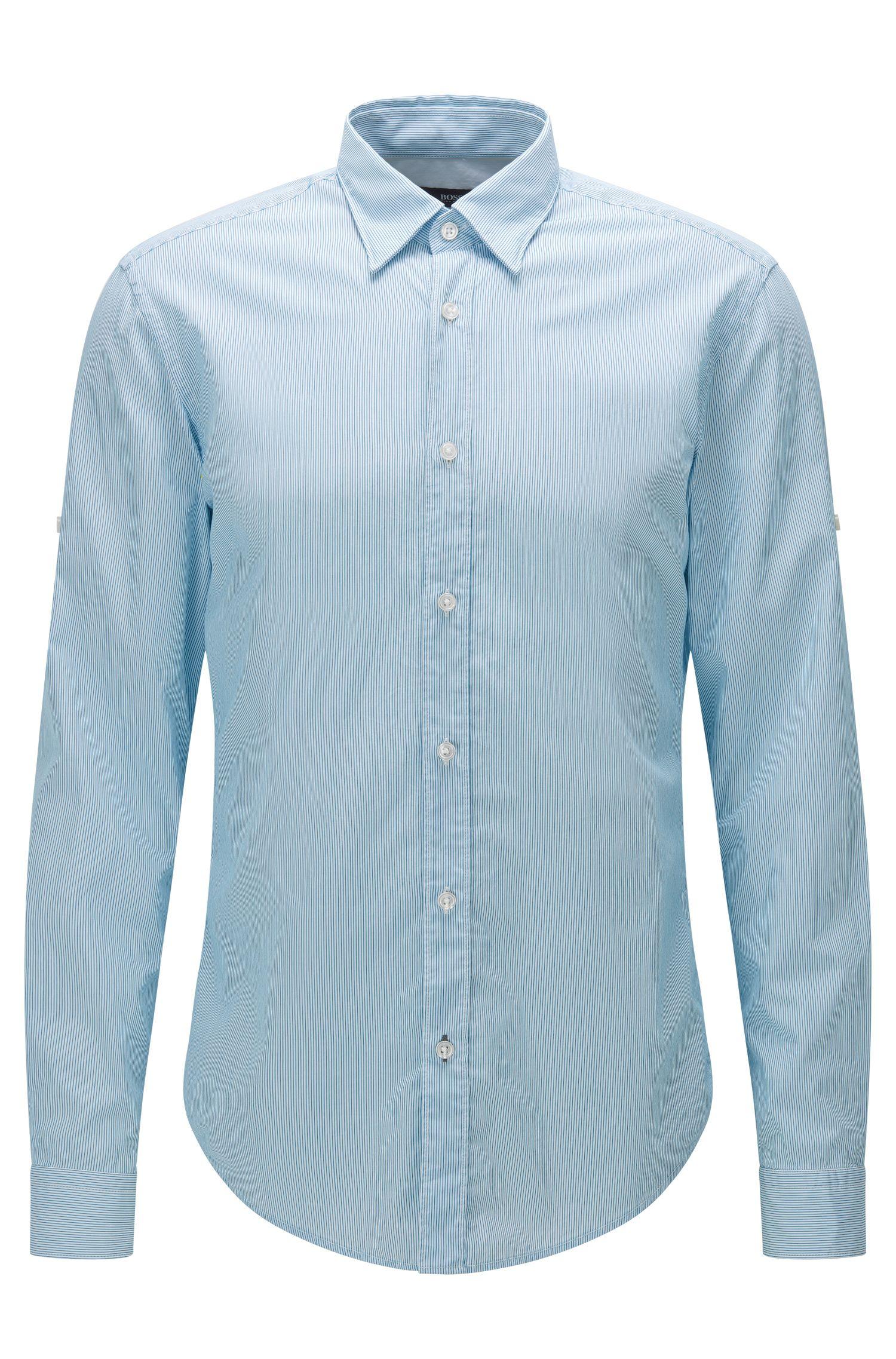 'Rog' | Slim Fit, Striped Cotton Button Down Shirt