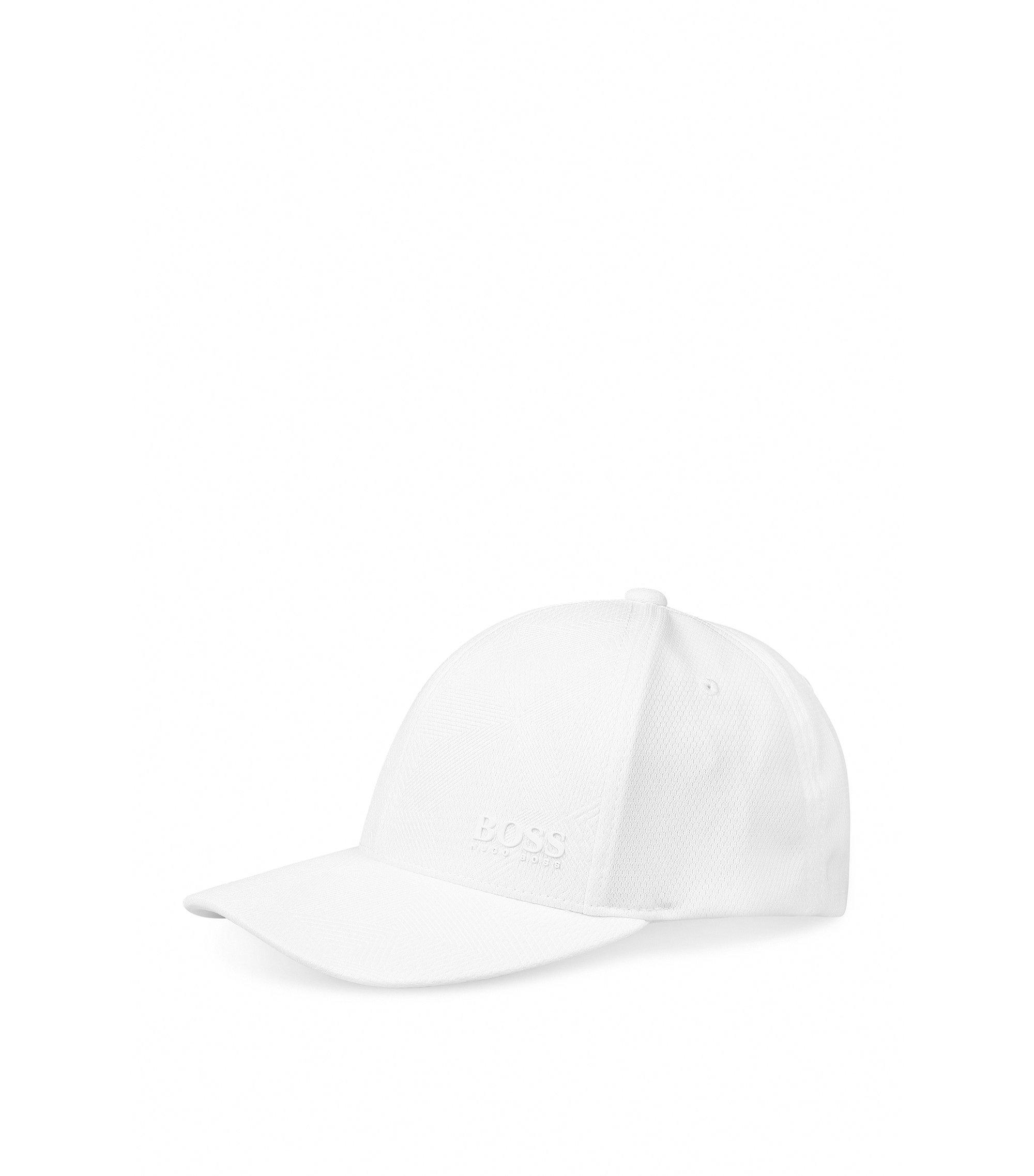 Geometric Print Baseball Cap | Printcap, White