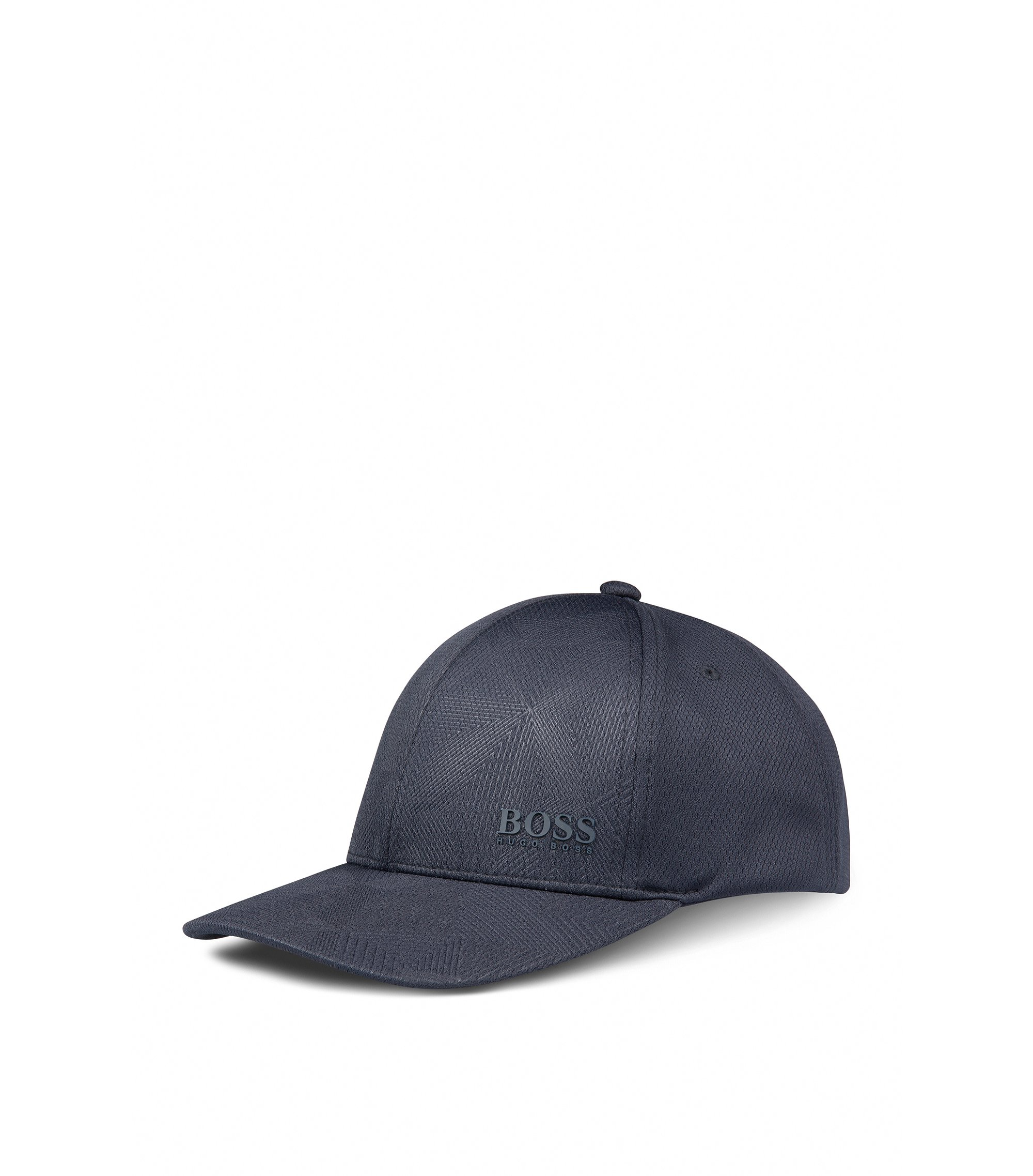 Geometric Print Baseball Cap   Printcap, Dark Blue