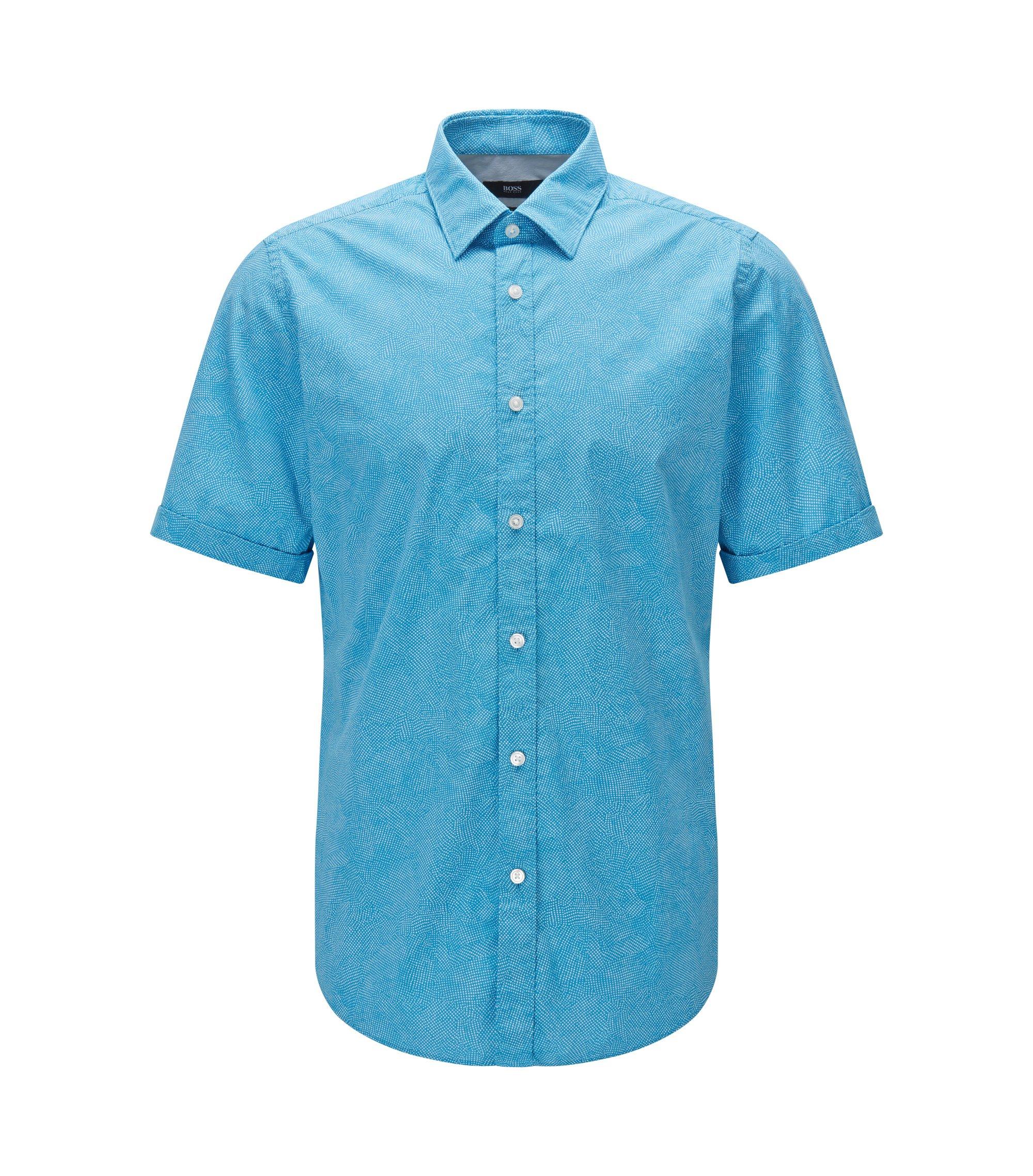 Stretch Cotton Button Down Shirt, Regular Fit | Luka, Light Blue