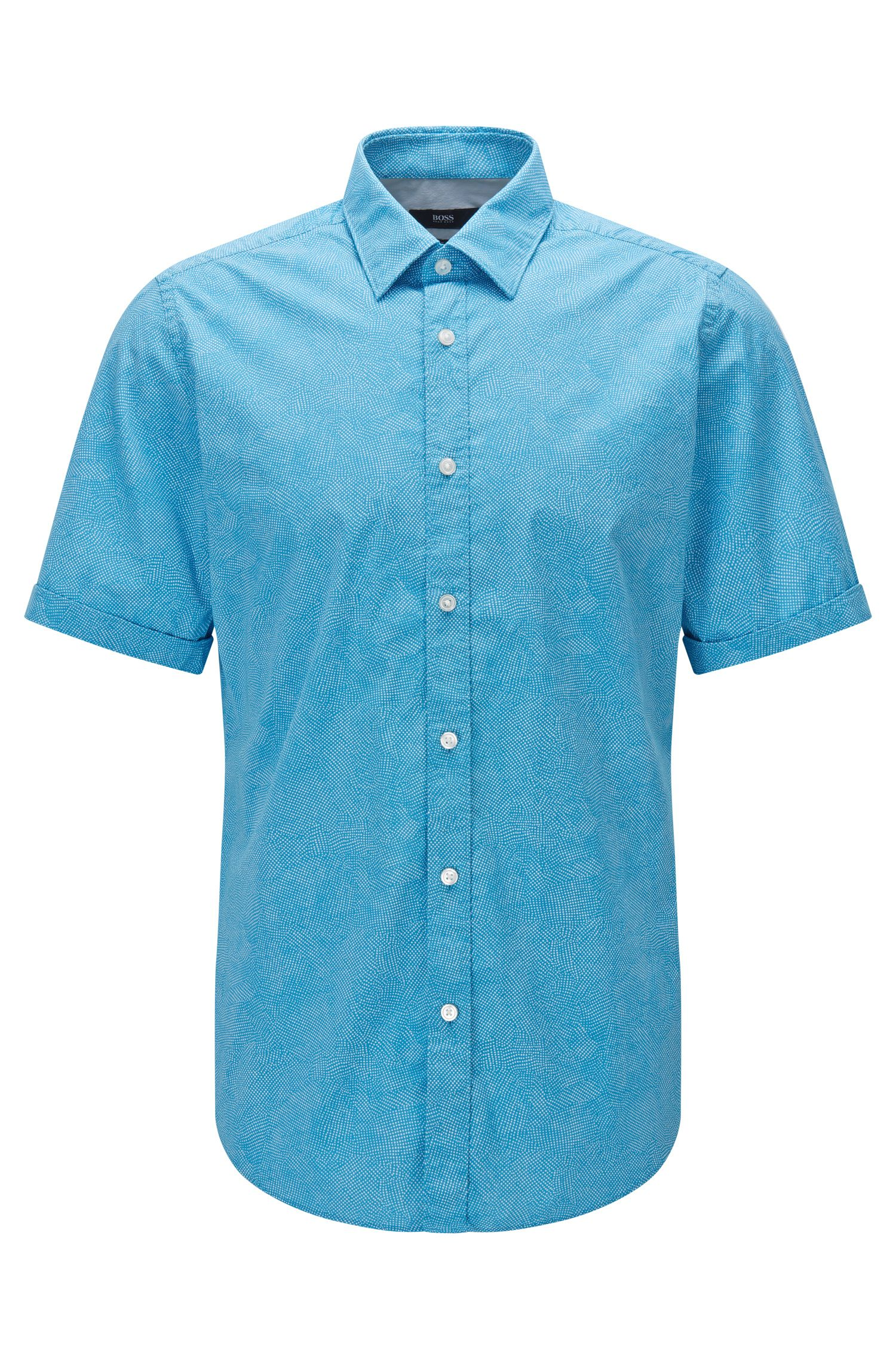 Stretch Cotton Button Down Shirt, Regular Fit | Luka