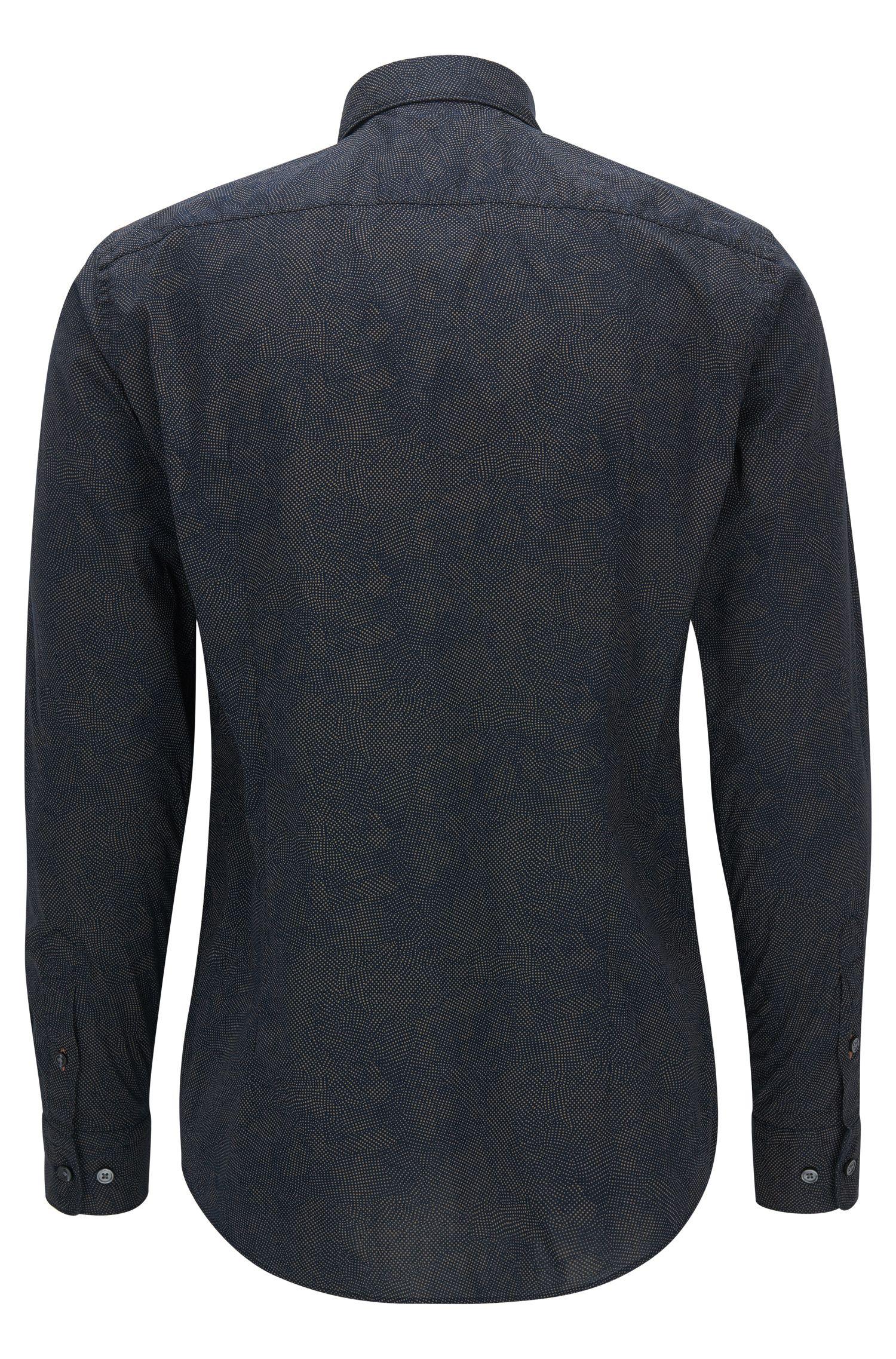 Stretch Cotton Poplin Button Down Shirt, Slim Fit | Ronni