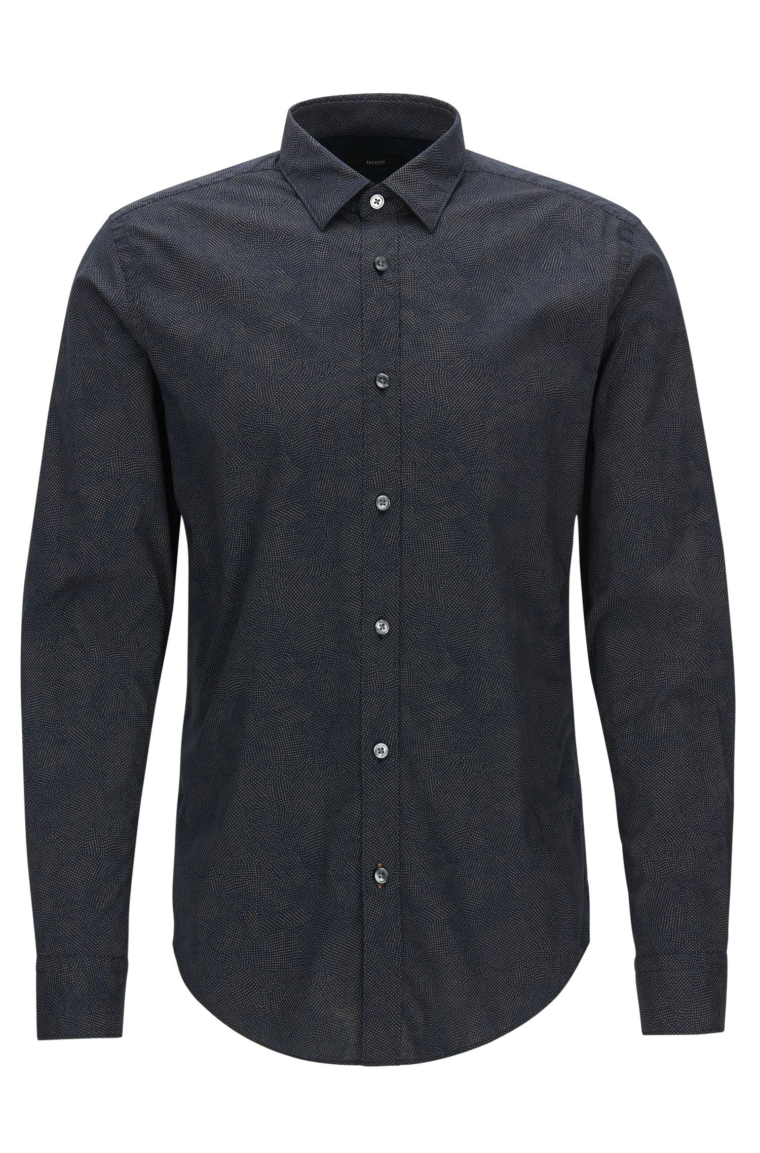 'Ronni' | Slim Fit, Microdot Stretch Cotton Poplin Button Down Shirt
