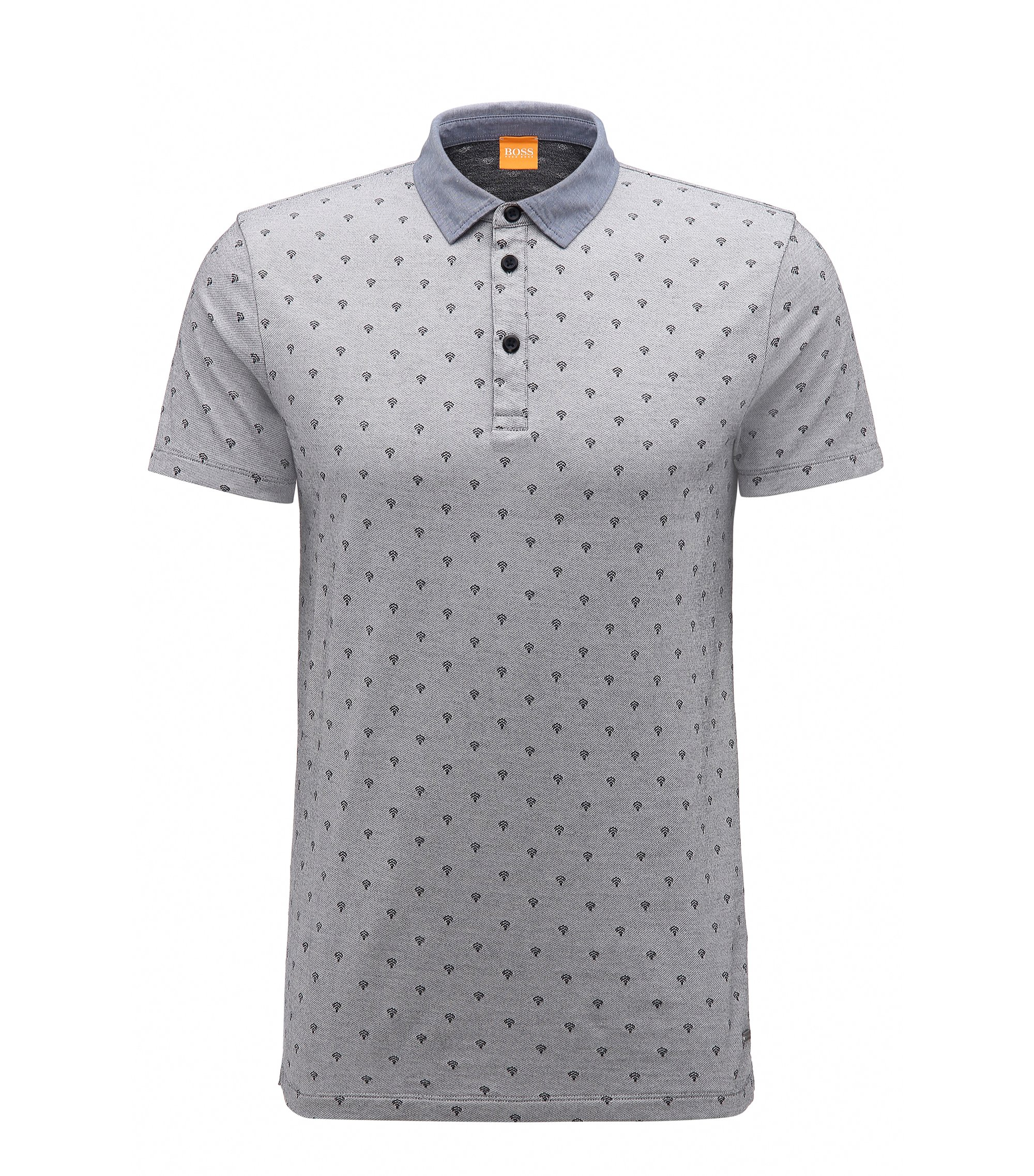 Wifi Cotton Polo, Regular Fit | Pixel, White