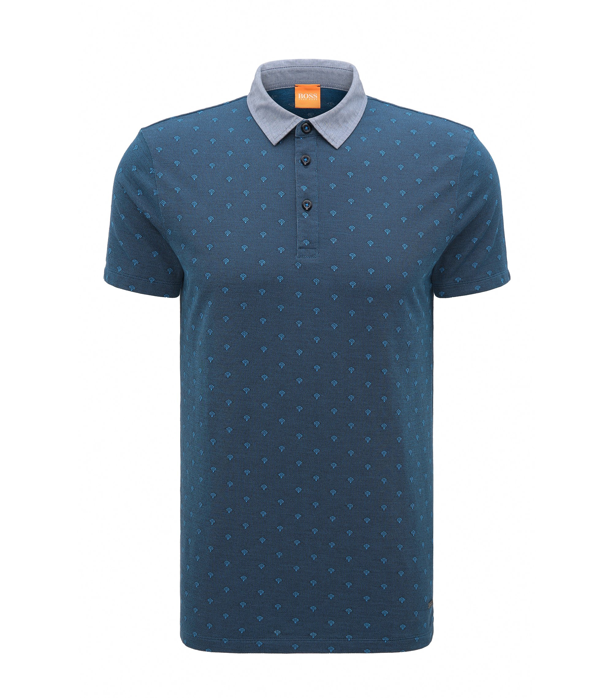 Wifi Cotton Polo, Regular Fit | Pixel, Dark Blue