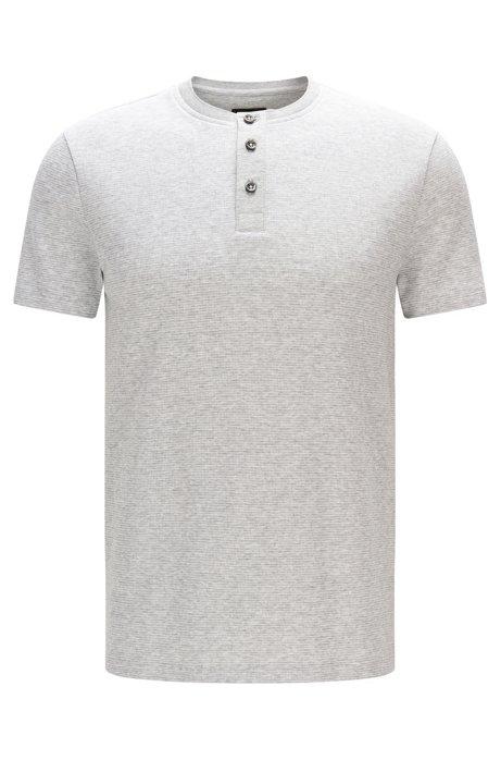 b4665dbab BOSS - Cotton Waffle Henley Shirt | Tiller
