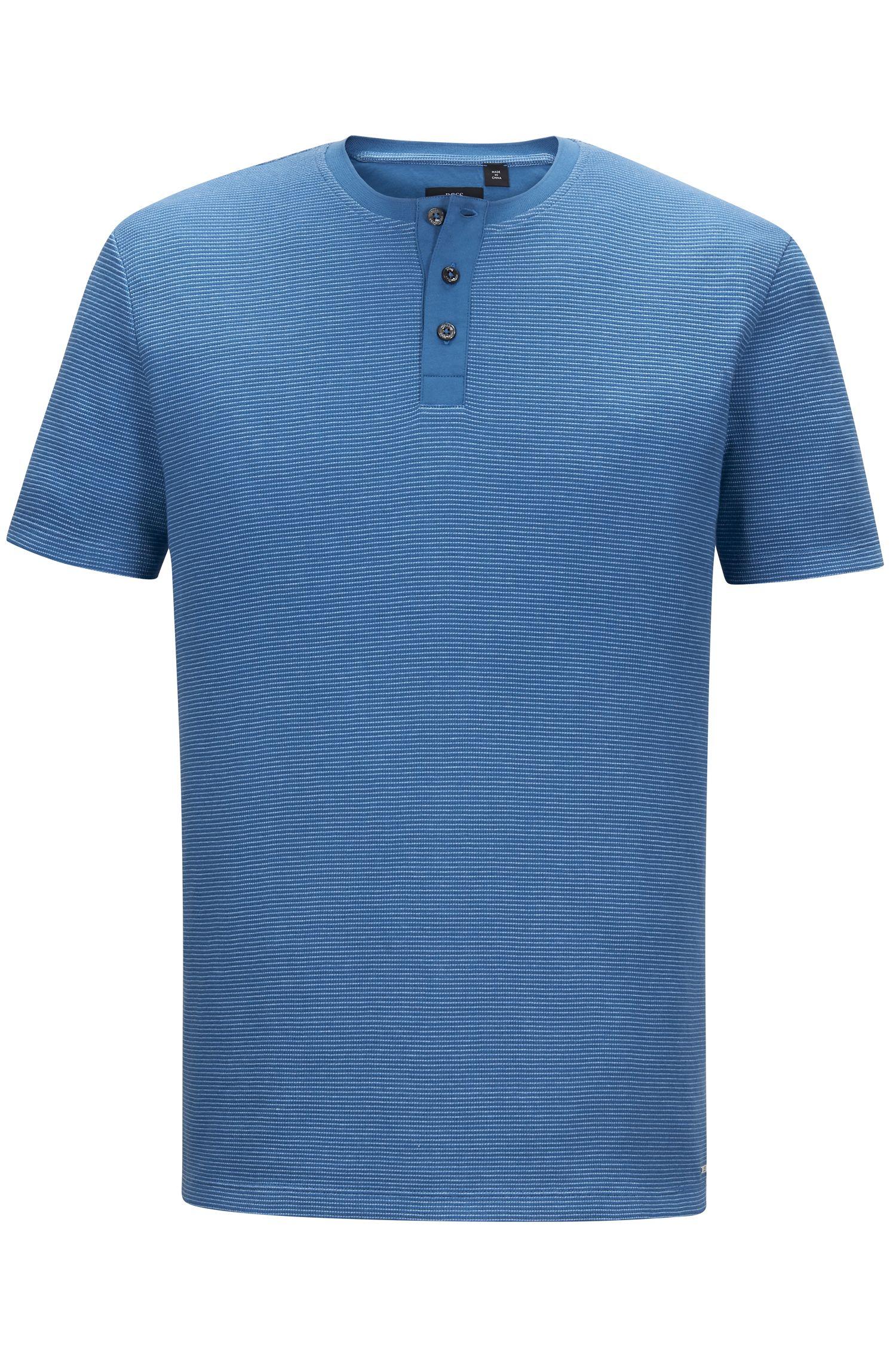 Cotton Waffle Henley Shirt | Tiller