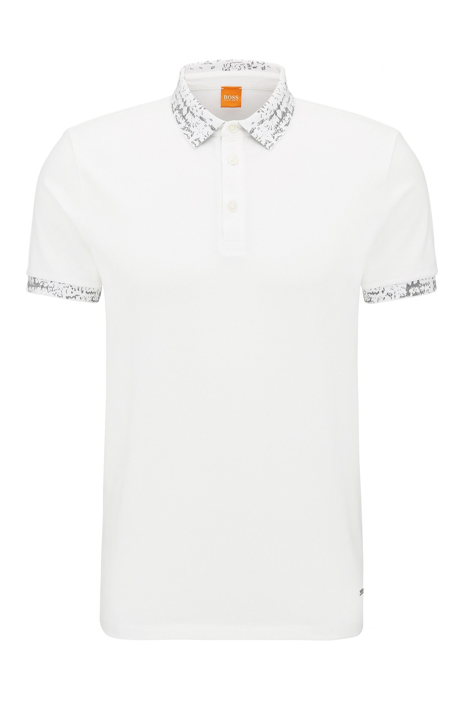 Stretch Cotton Piqué Polo Shirt, Regular Fit | Prior, White