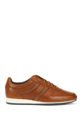 Leather Sneaker   Orland Runn Pp , Brown