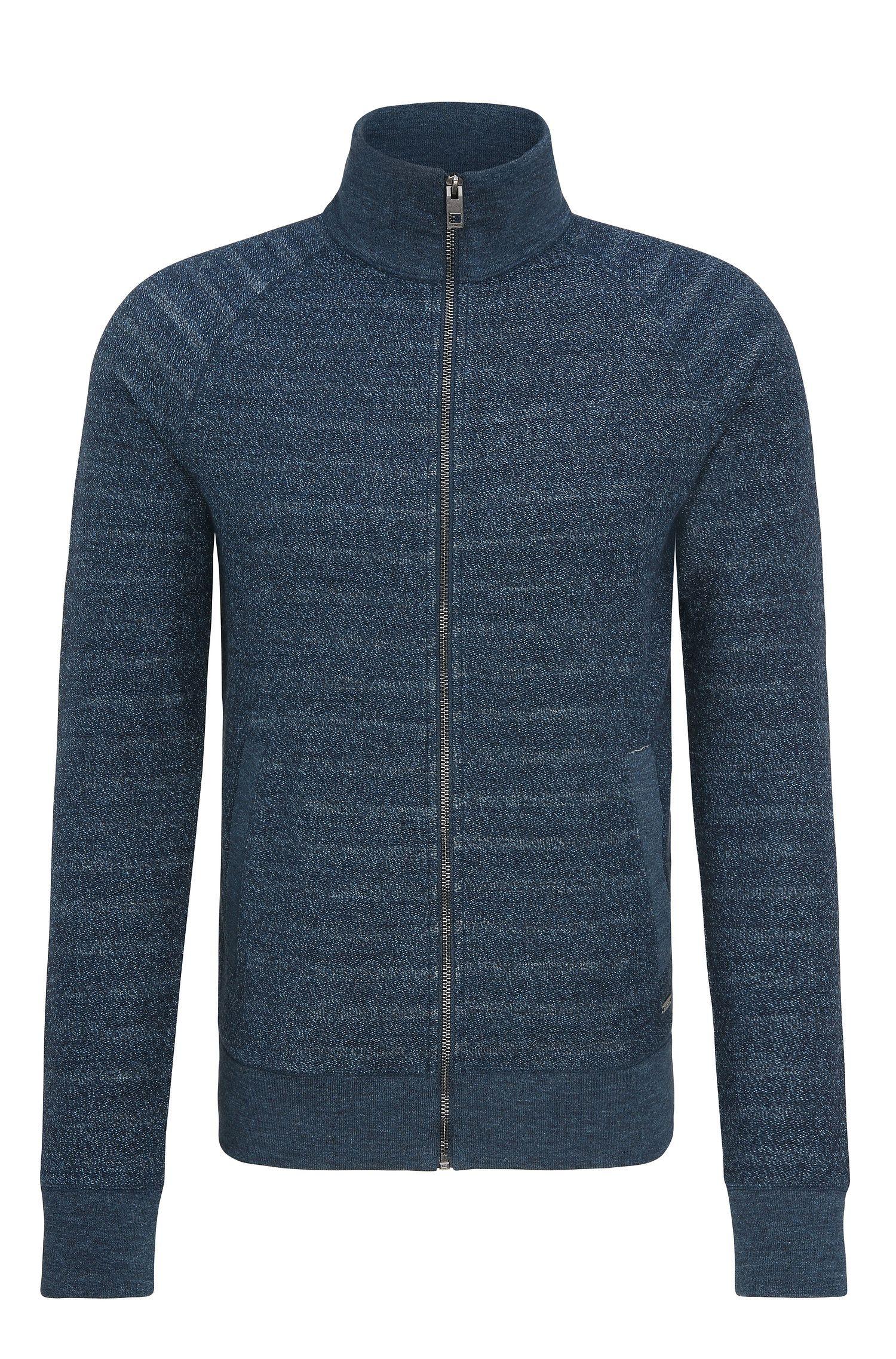 'Zlate' | Melange Cotton Full-Zip Sweater