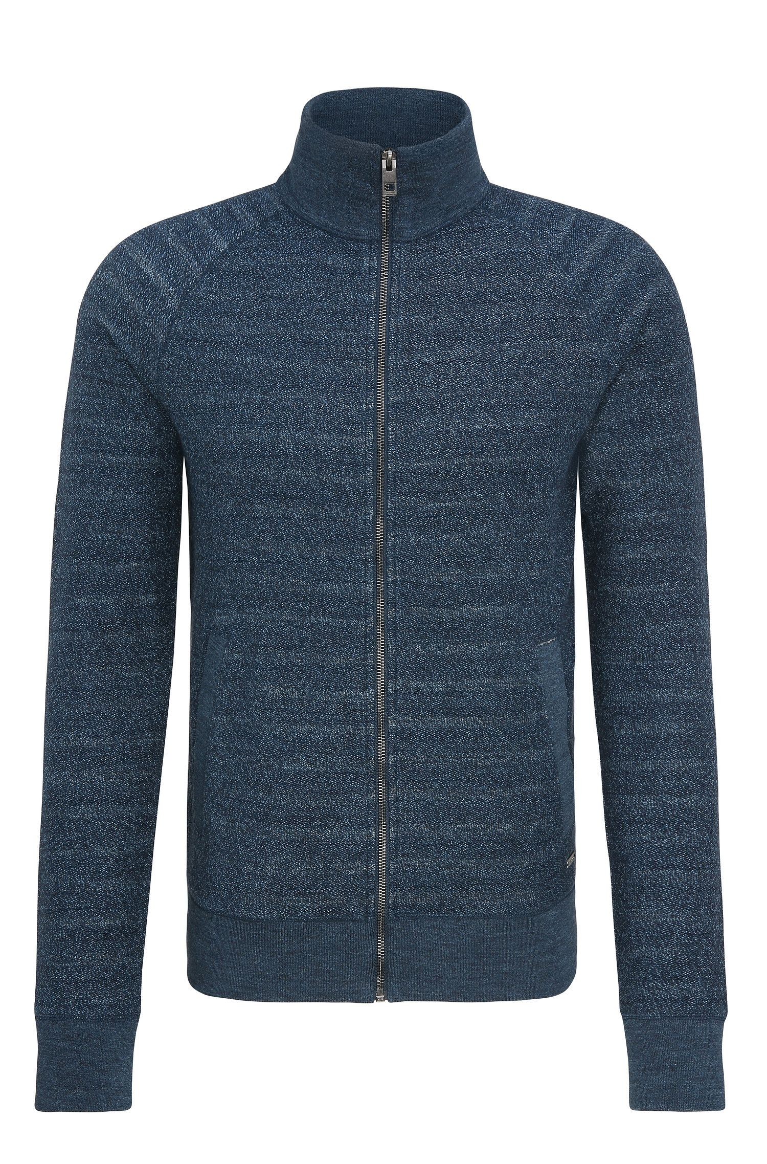 'Zlate' | Melange Cotton Full-Zip Sweater