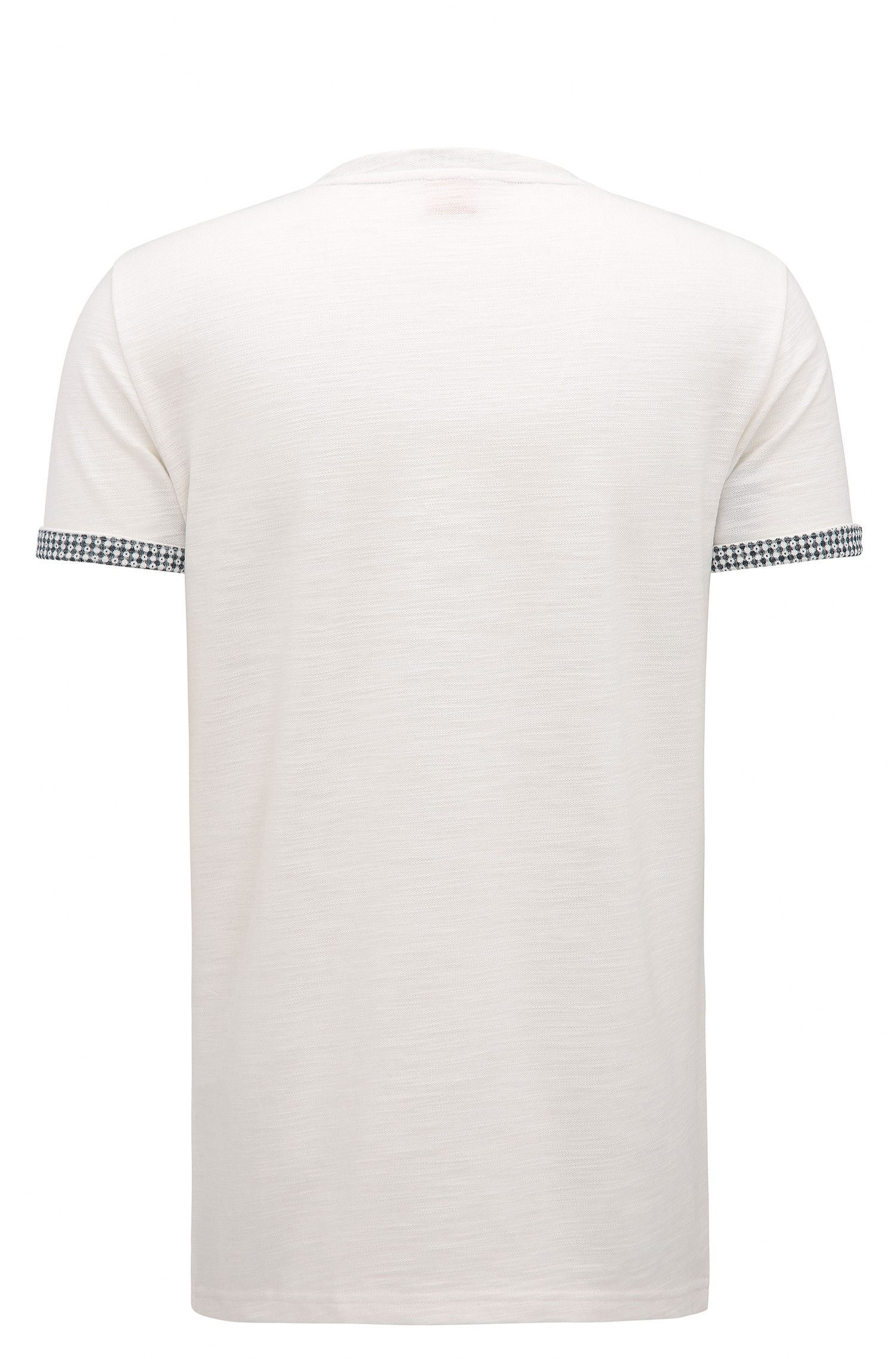 Cuffed Cotton Blend T-Shirt | Tile