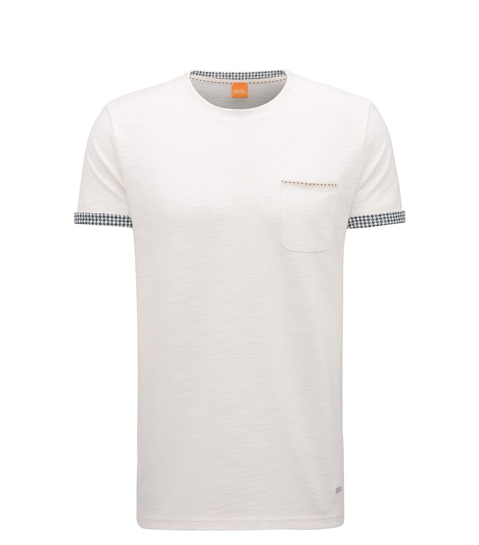 Cuffed Cotton Blend T-Shirt | Tile , Natural