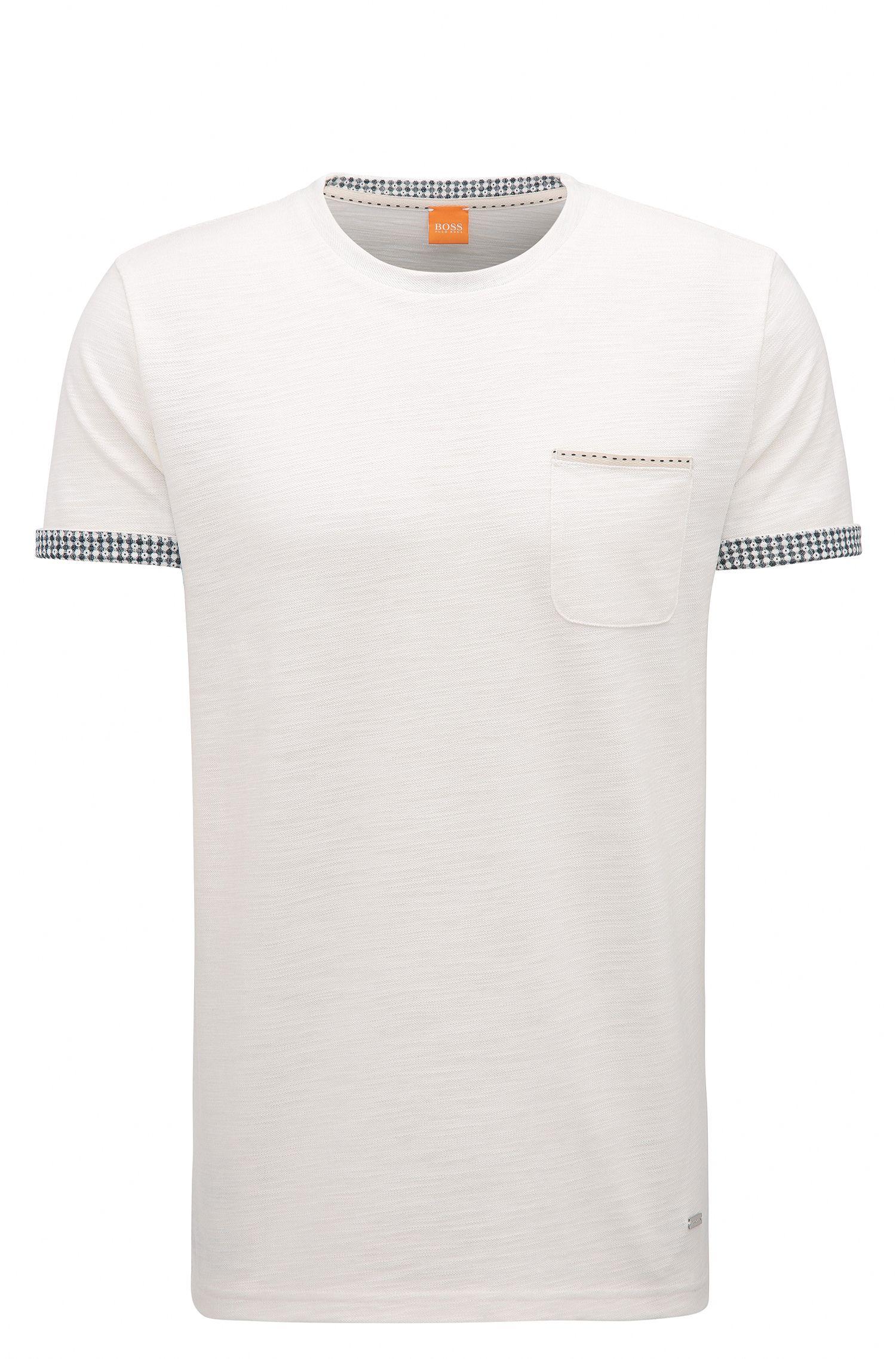 Cuffed Cotton Blend T-Shirt | Tile