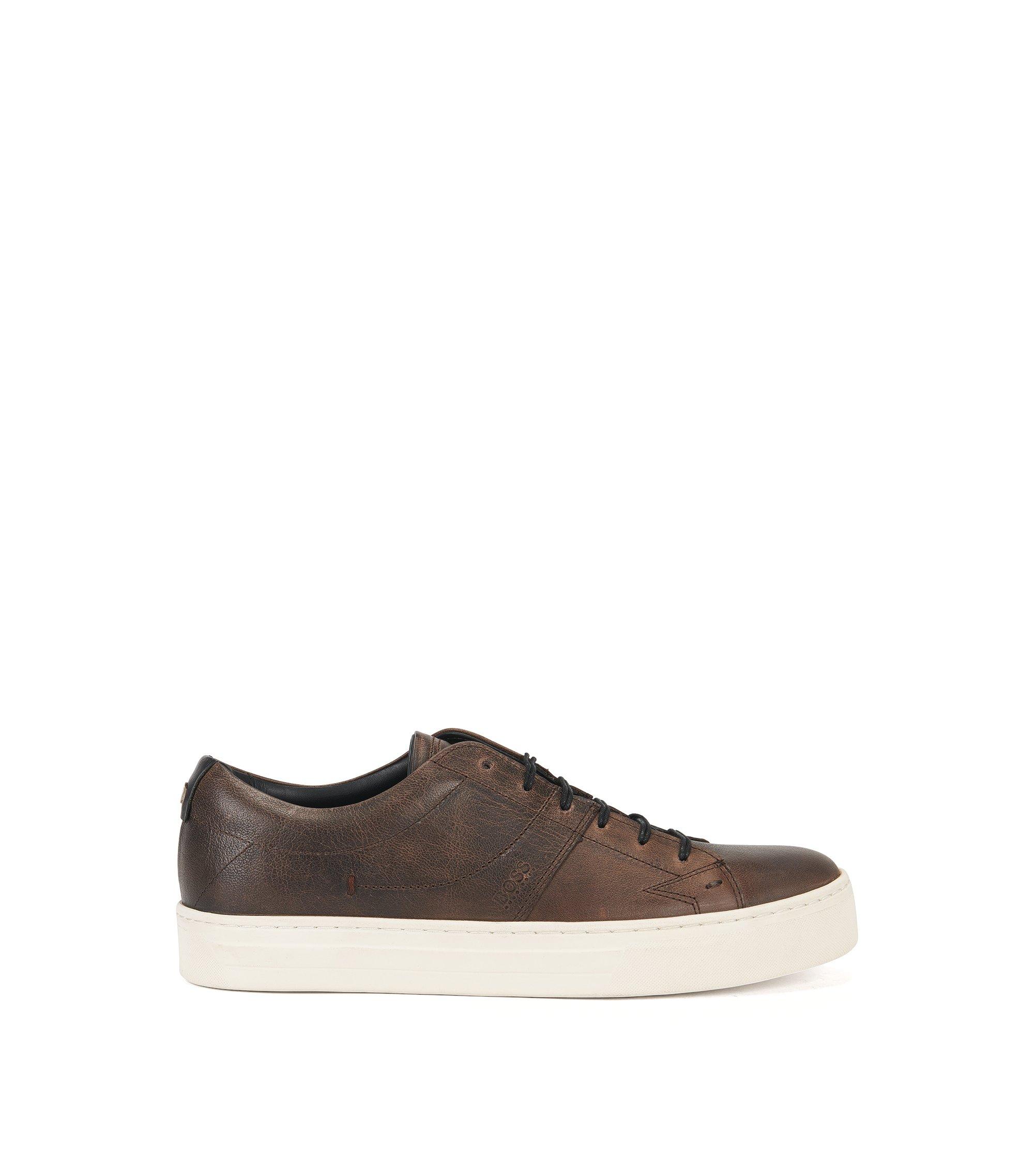 Leather Tennis Shoe | Noir Tenn Pp, Brown