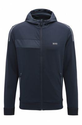 Hooded Full-Zip Sweater Jacket | Saggytech, Dark Blue