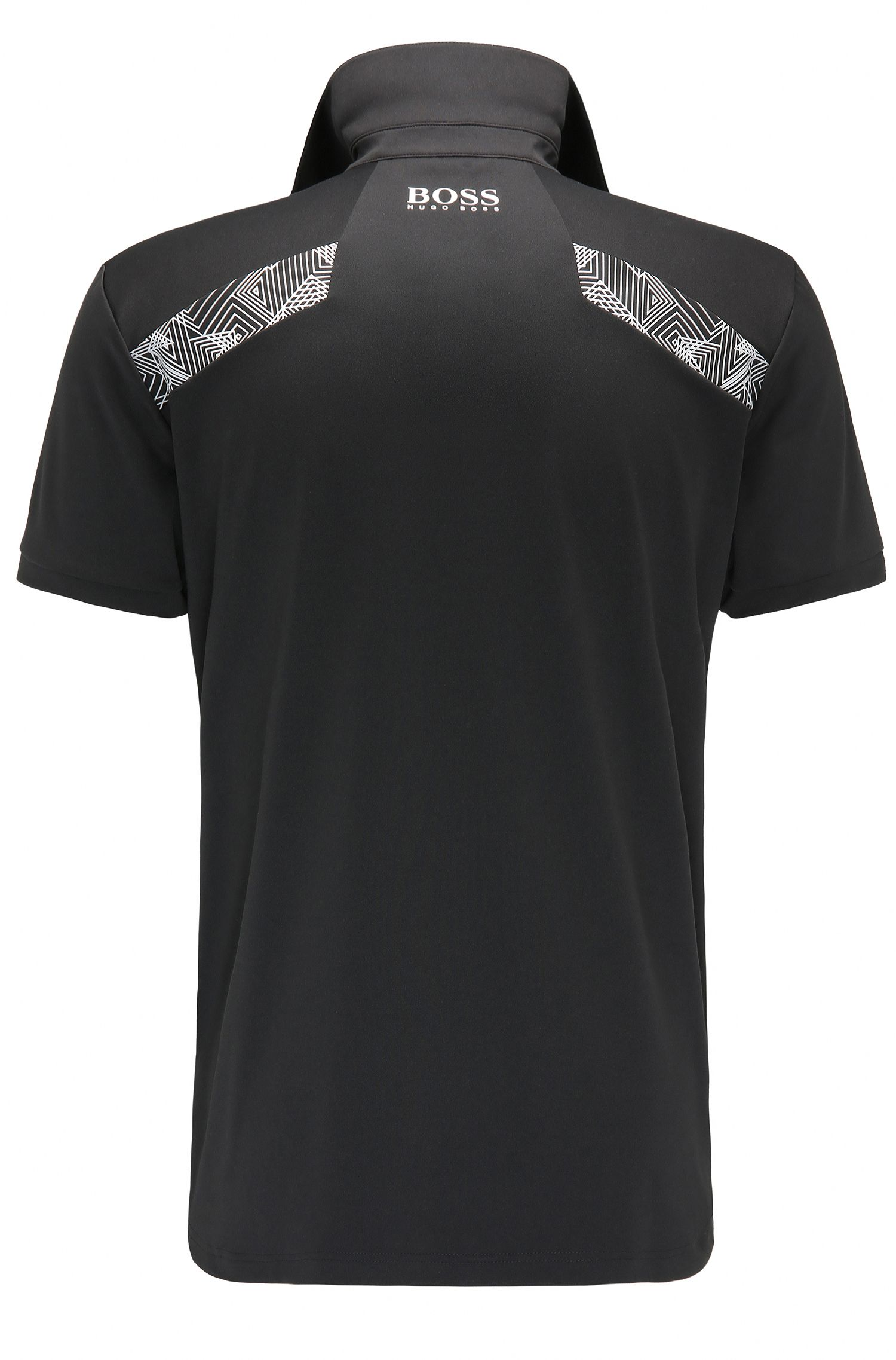 Quick-Dry Stretch Graphic Polo, Slim Fit | Paule Pro