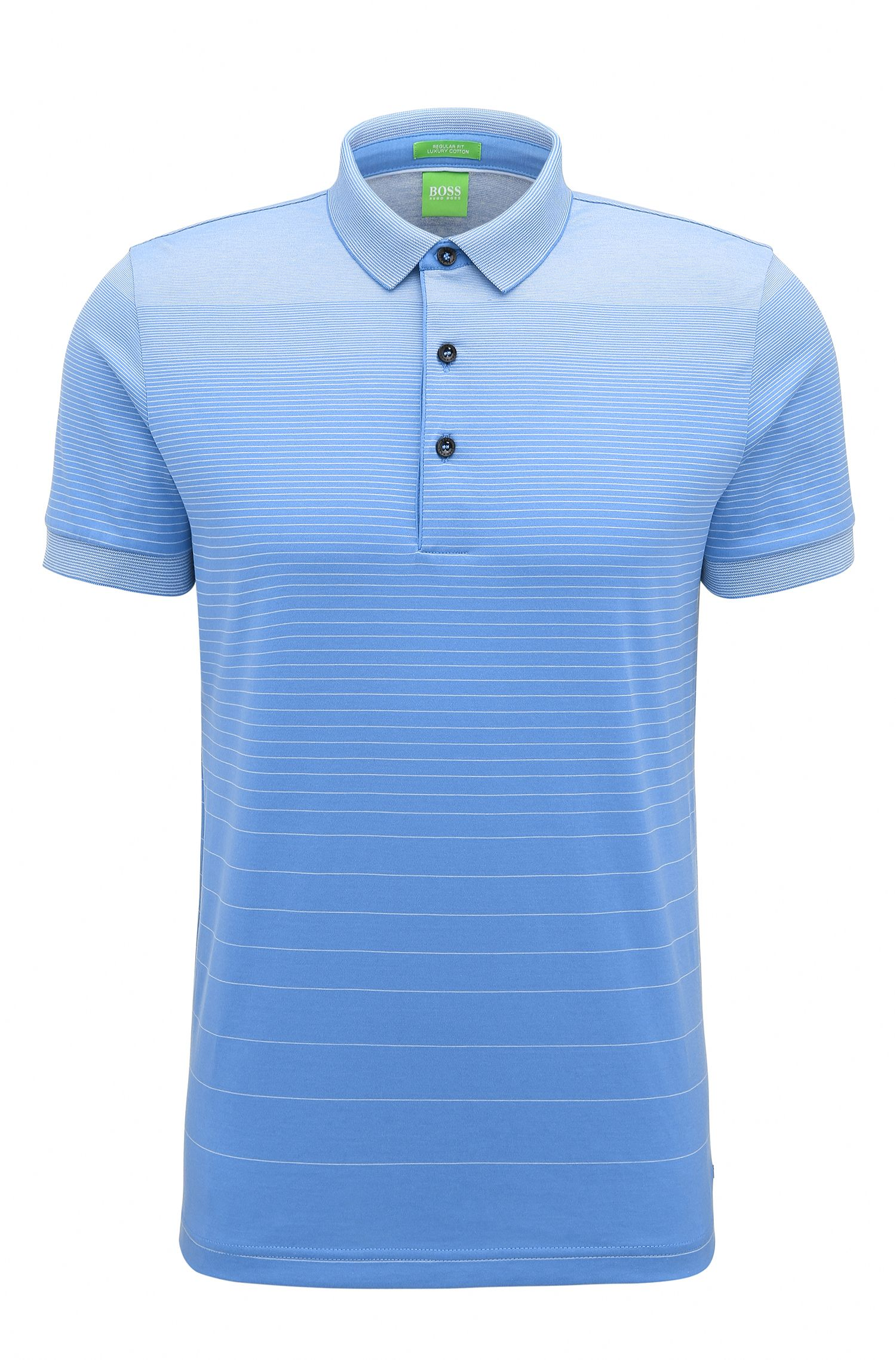Striped Cotton Polo Shirt, Regular Fit | C-Janis