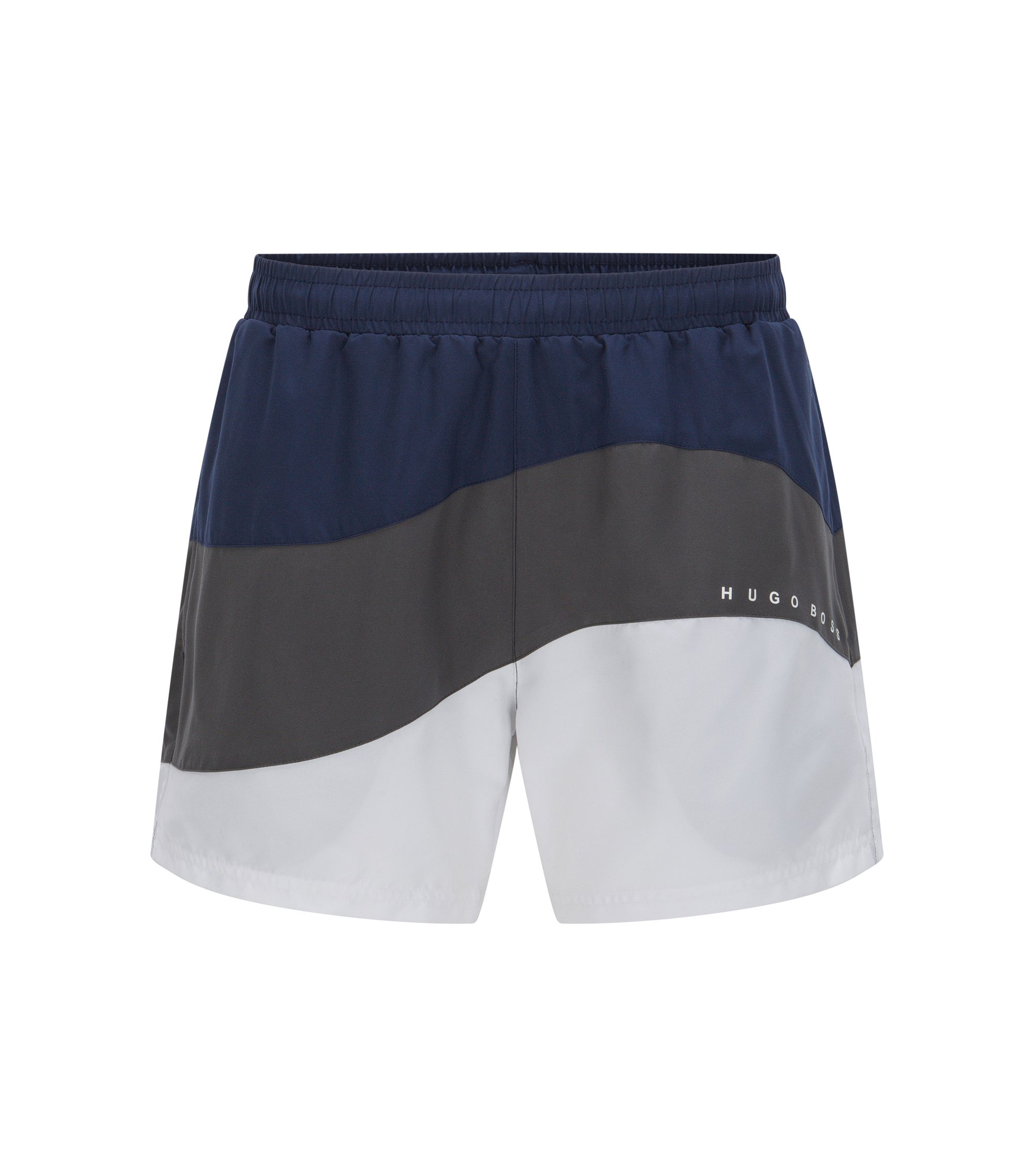 Colorblock Quick Dry Swim Trunk | Butterflyfish, Open Grey