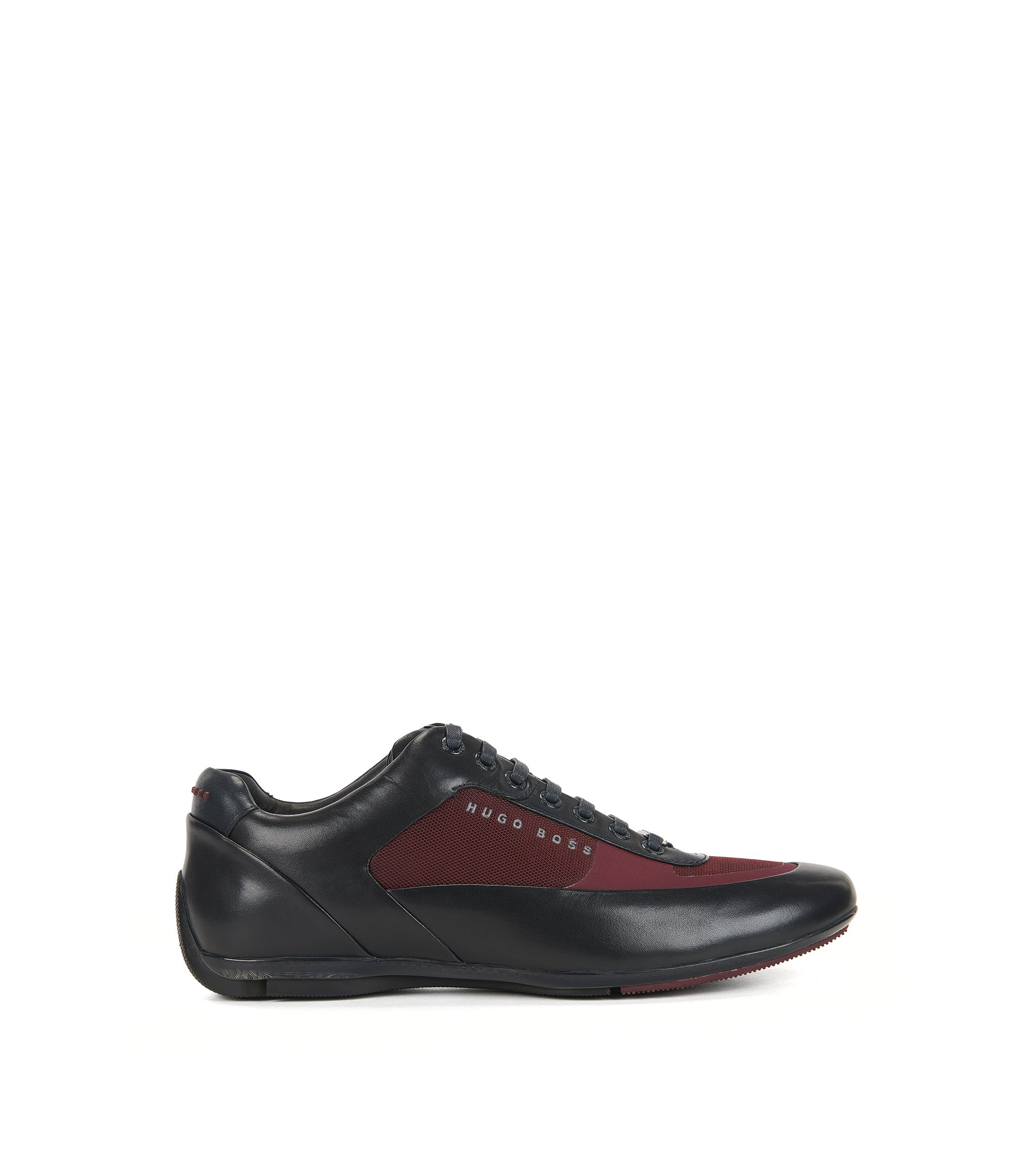 Leather Sneaker | HBRacing Lowp Itny, Dark Red