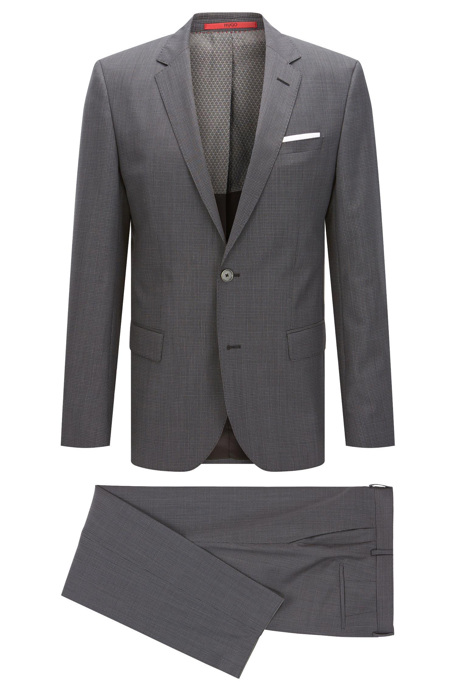 Textured Check Virgin Wool Blend Suit, Slim Fit  C-Hutson/C-Gander