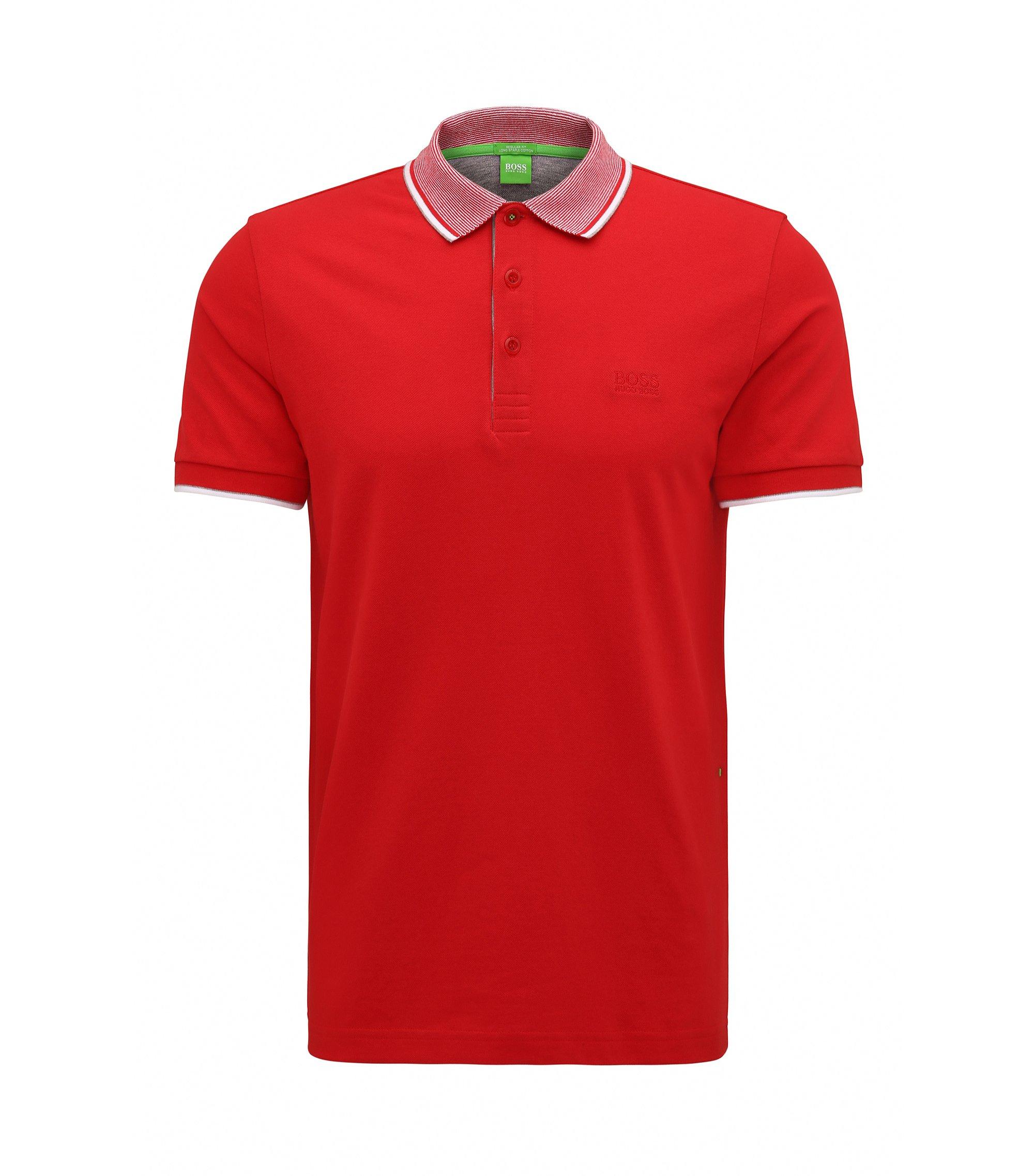 Cotton Piqué Polo Shirt, Regular Fit | Paddos, Red