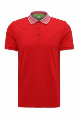 Cotton Piqué Polo Shirt, Regular Fit | Paddos, Red