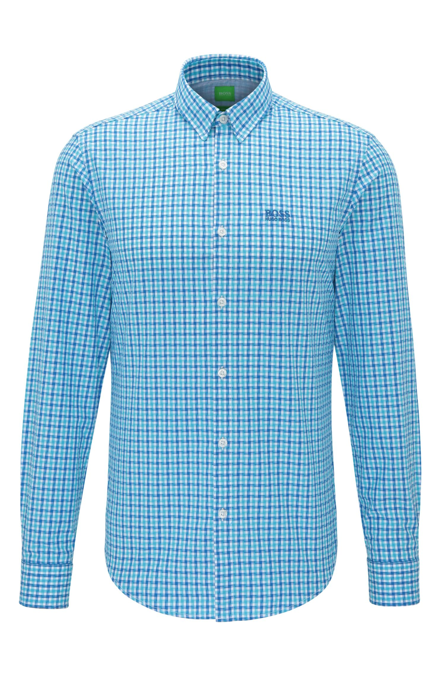 Cotton Button Down Shirt, Regular Fit | C-Buster