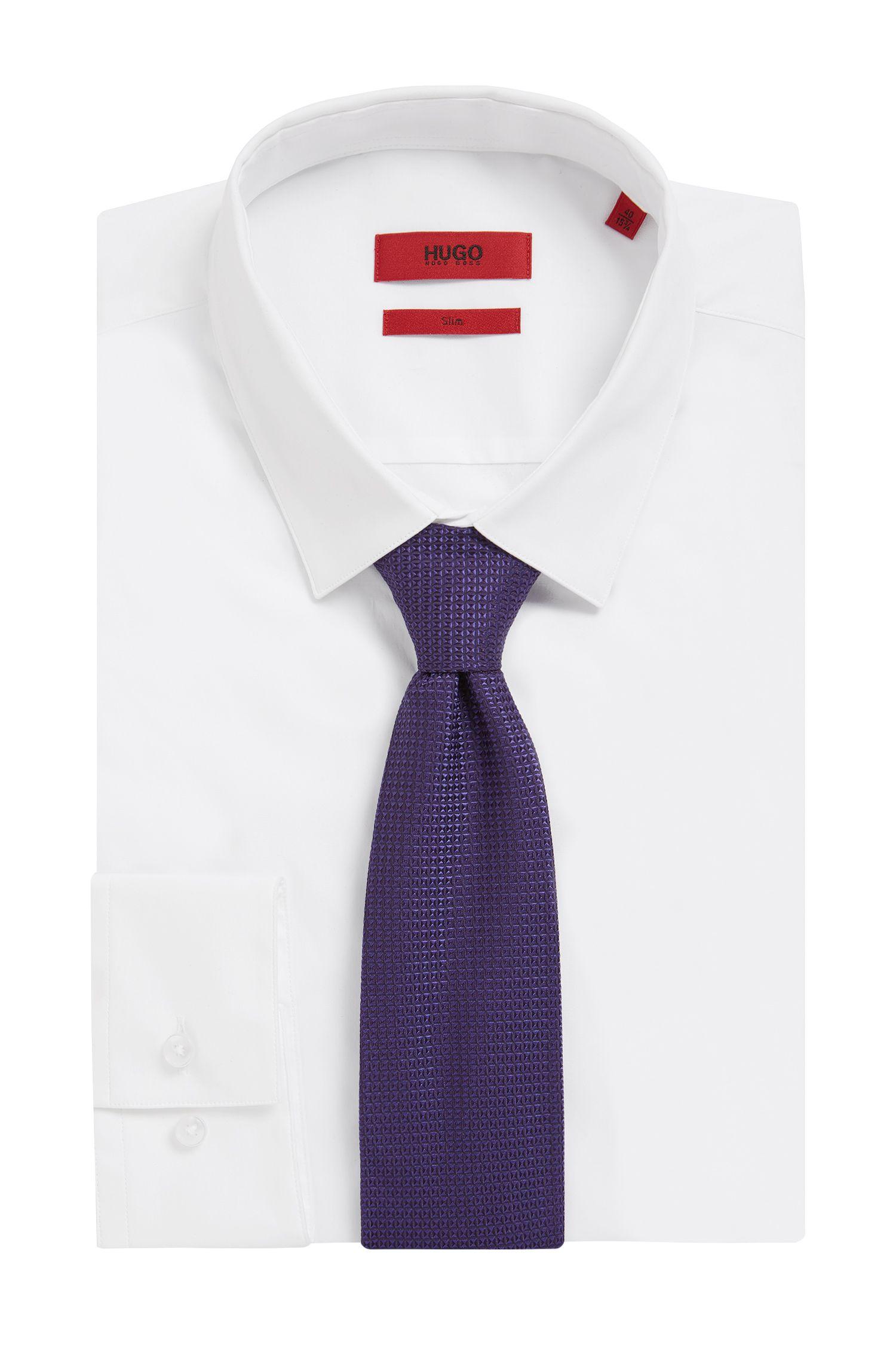 Microdiamond Italian Silk Tie, Purple