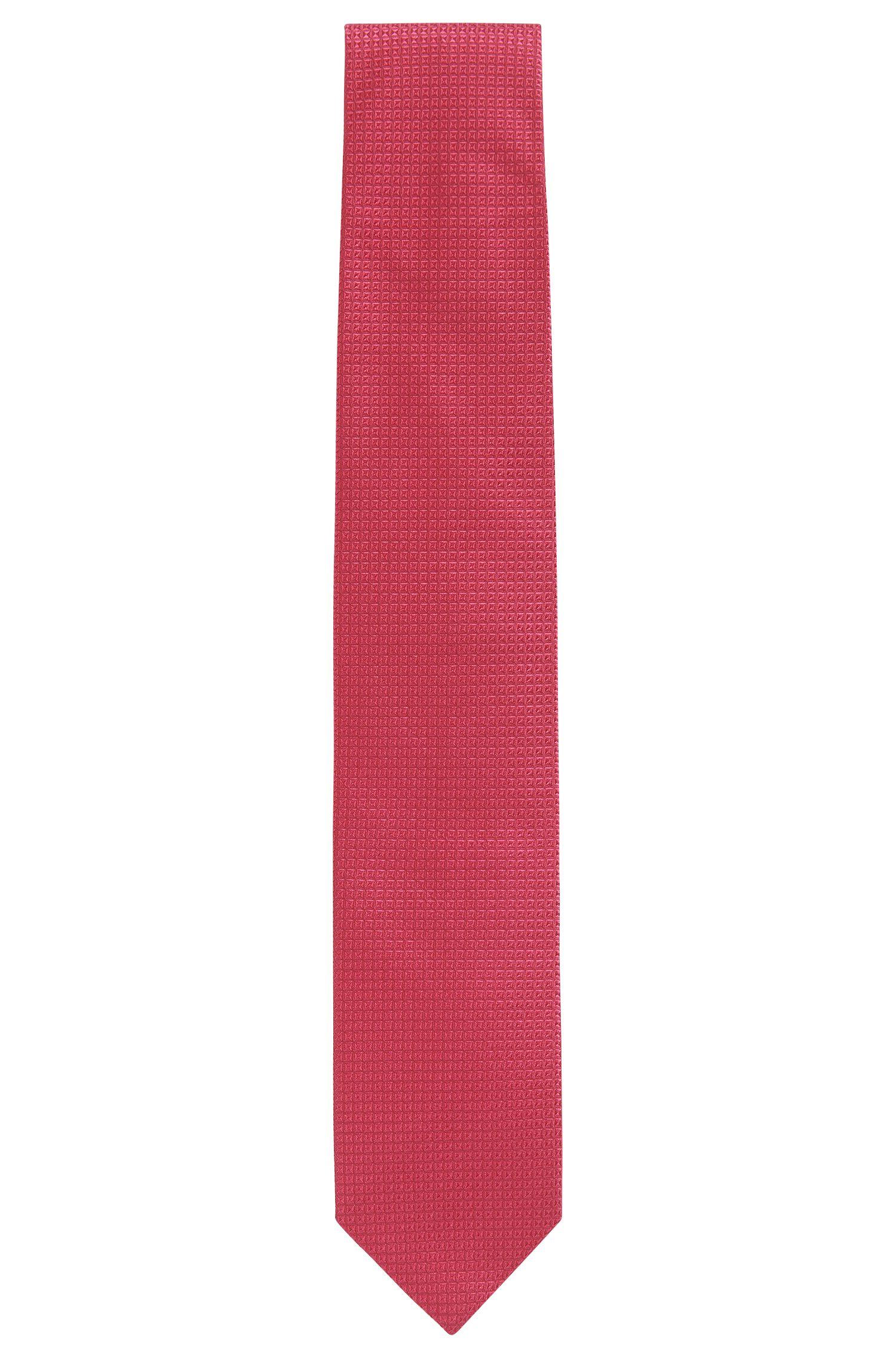 Microdiamond Italian Silk Tie, Red