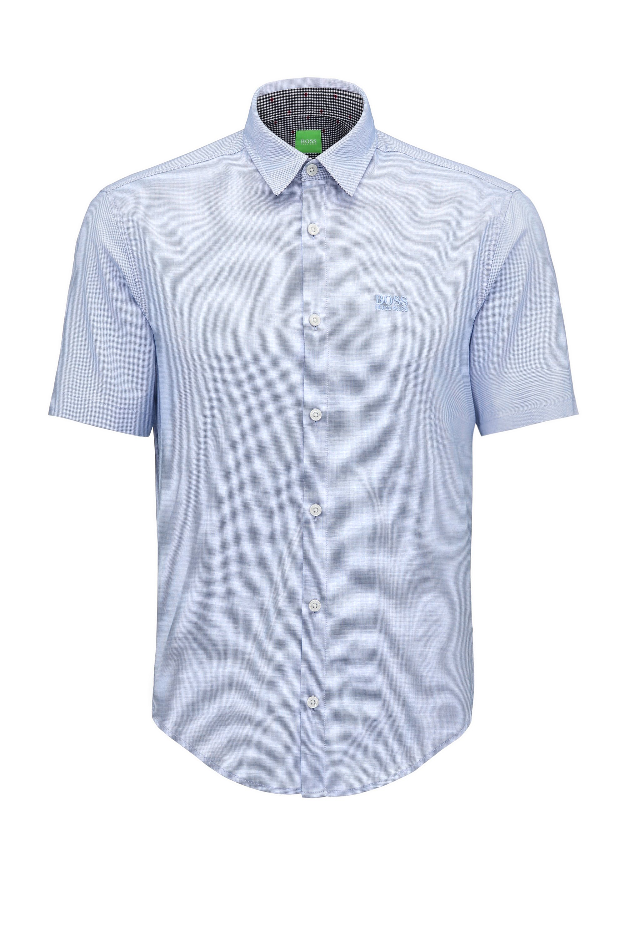 Cotton Button Down Shirt, Regular Fit | C-Busterino, Open Blue