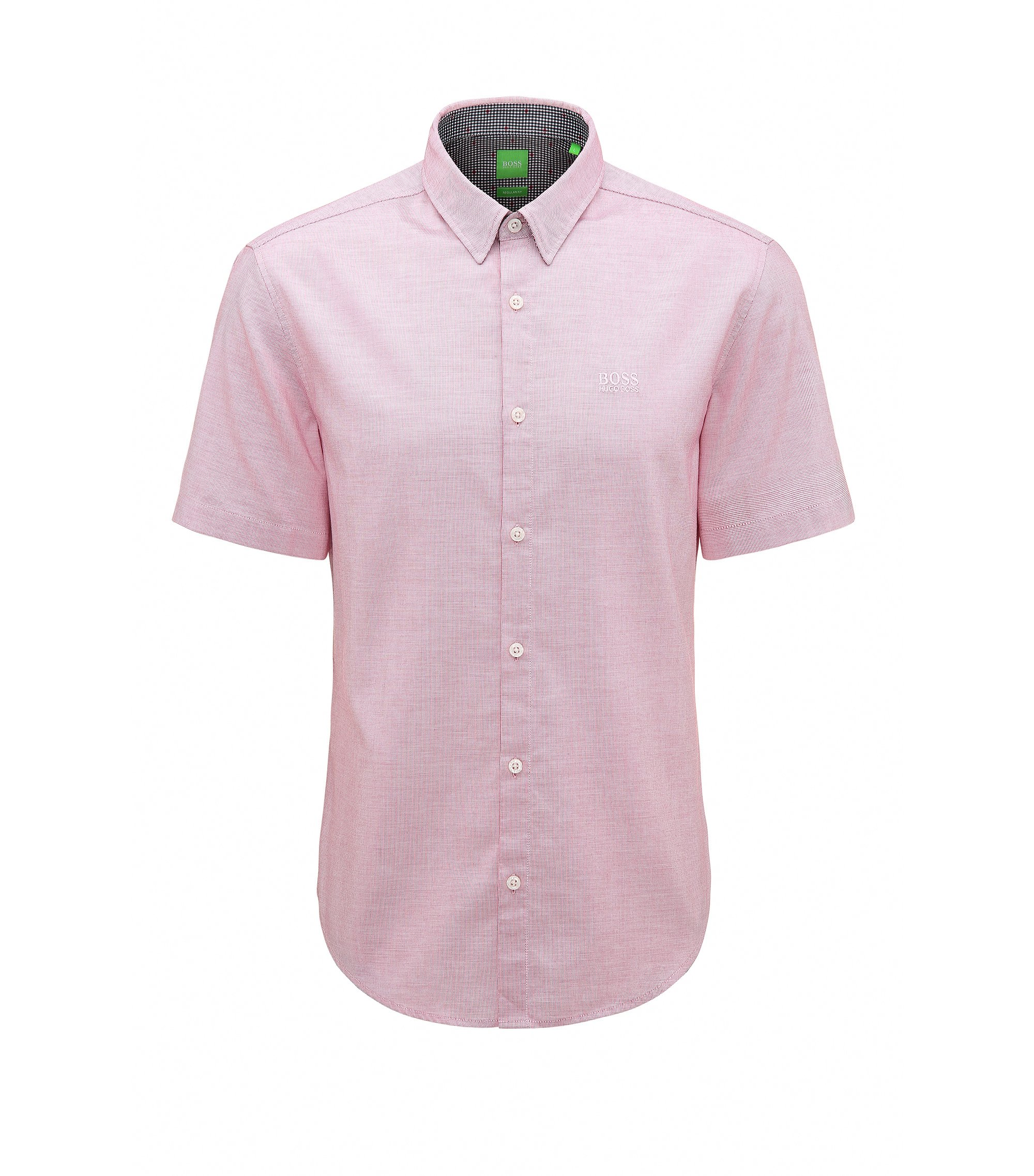Cotton Button Down Shirt, Regular Fit | C-Busterino, Pink