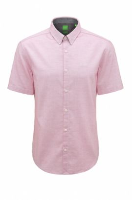 'C-Busterino' | Regular Fit, End-On-End Cotton Button Down Shirt, Pink